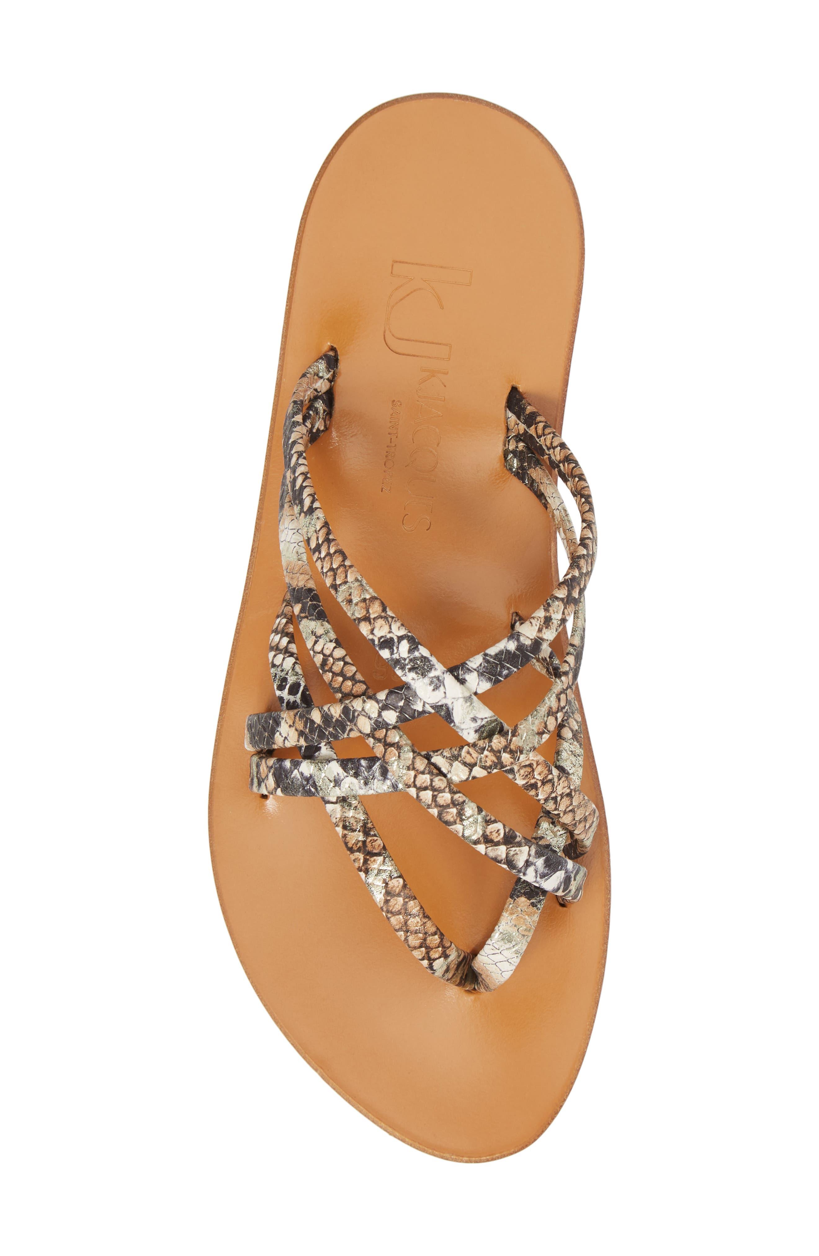 K. Jacques St. Tropez Strappy Thong Sandal,                             Alternate thumbnail 5, color,                             Hawai Arce