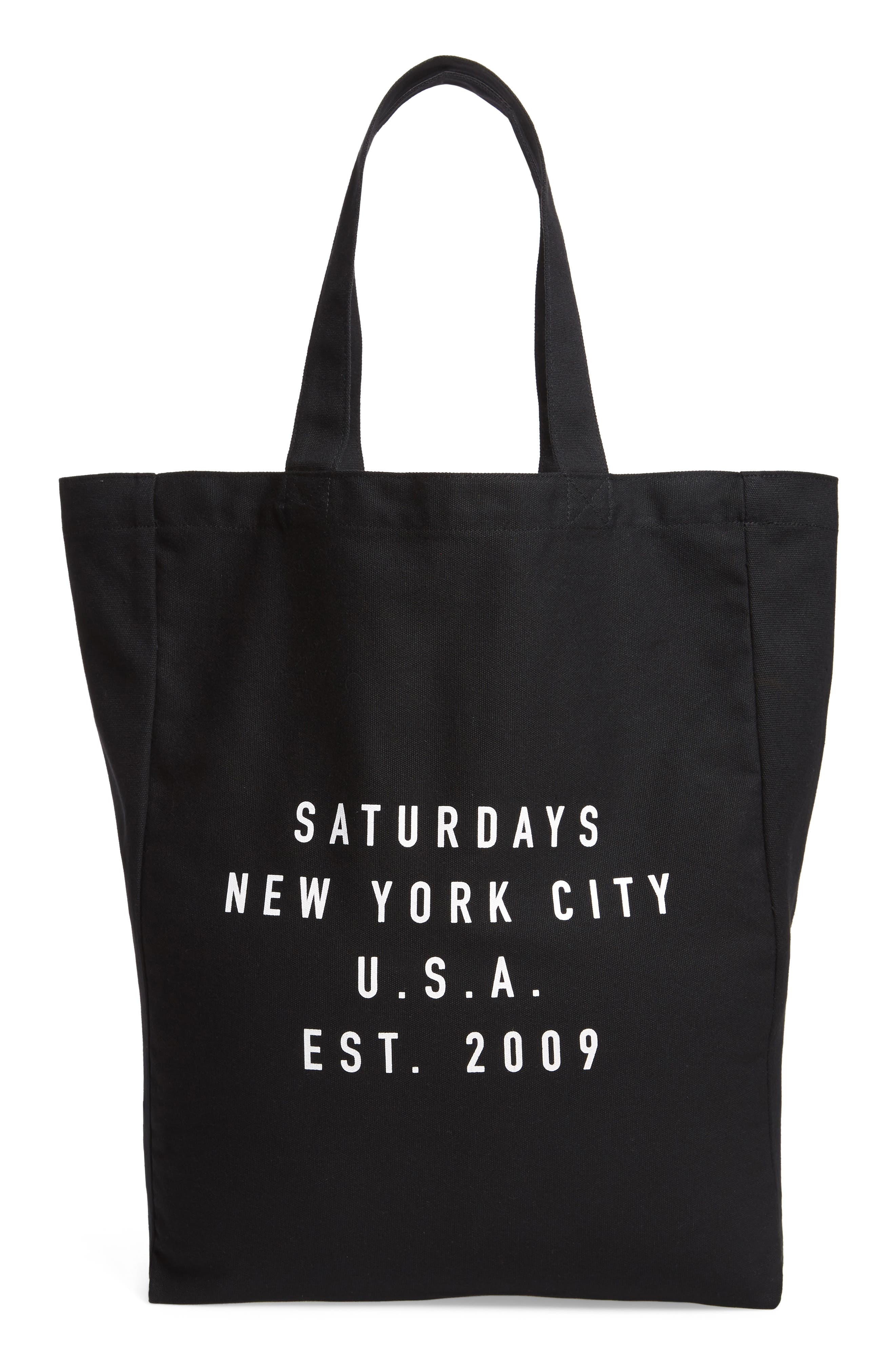 Established USA Tote Bag,                             Main thumbnail 1, color,                             Black