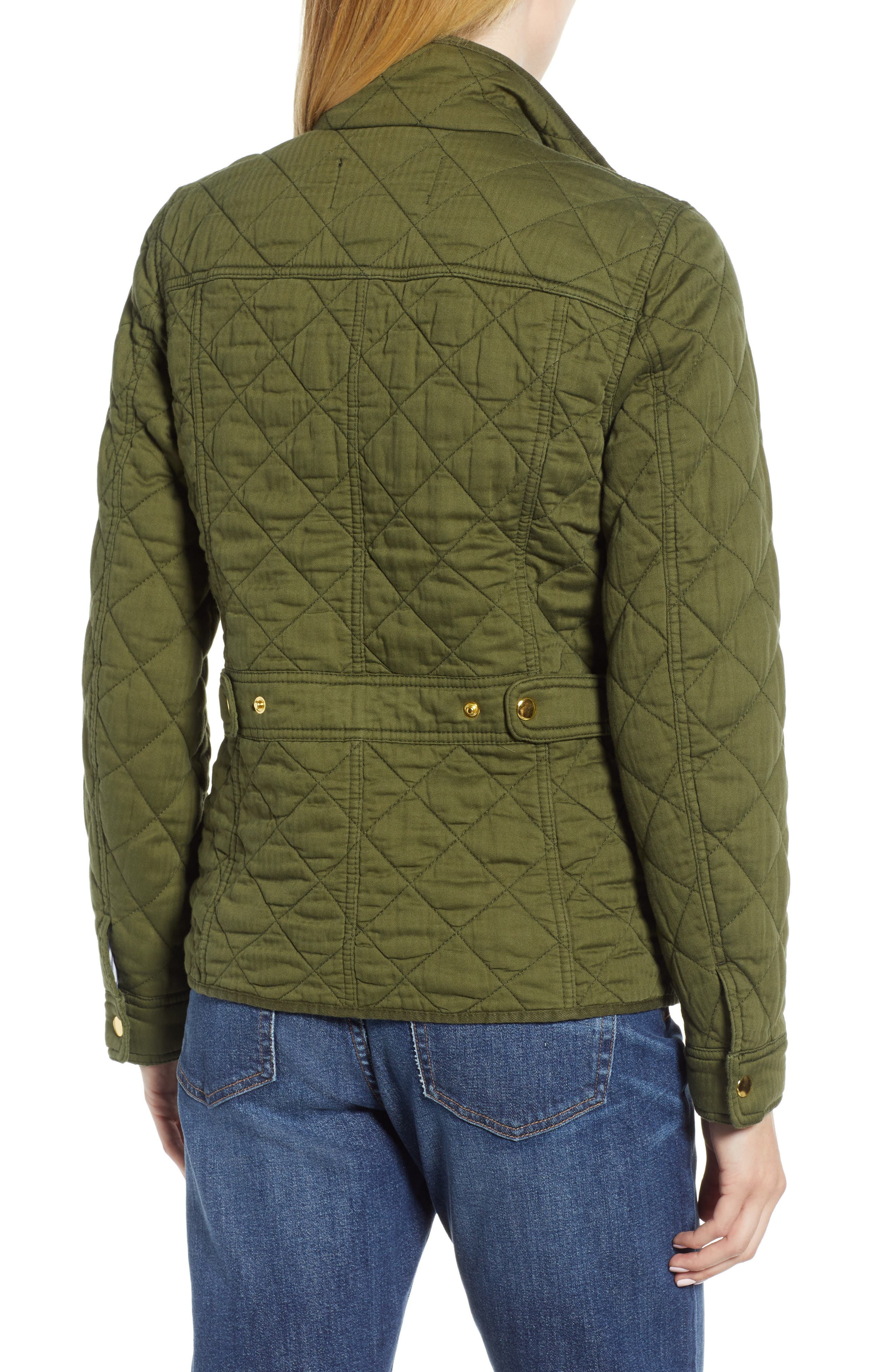Quilted Downtown Field Jacket,                             Alternate thumbnail 2, color,                             Deep Moss
