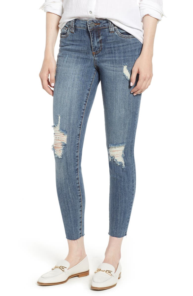 KUT from the Kloth Connie Raw Hem Ankle Jeans