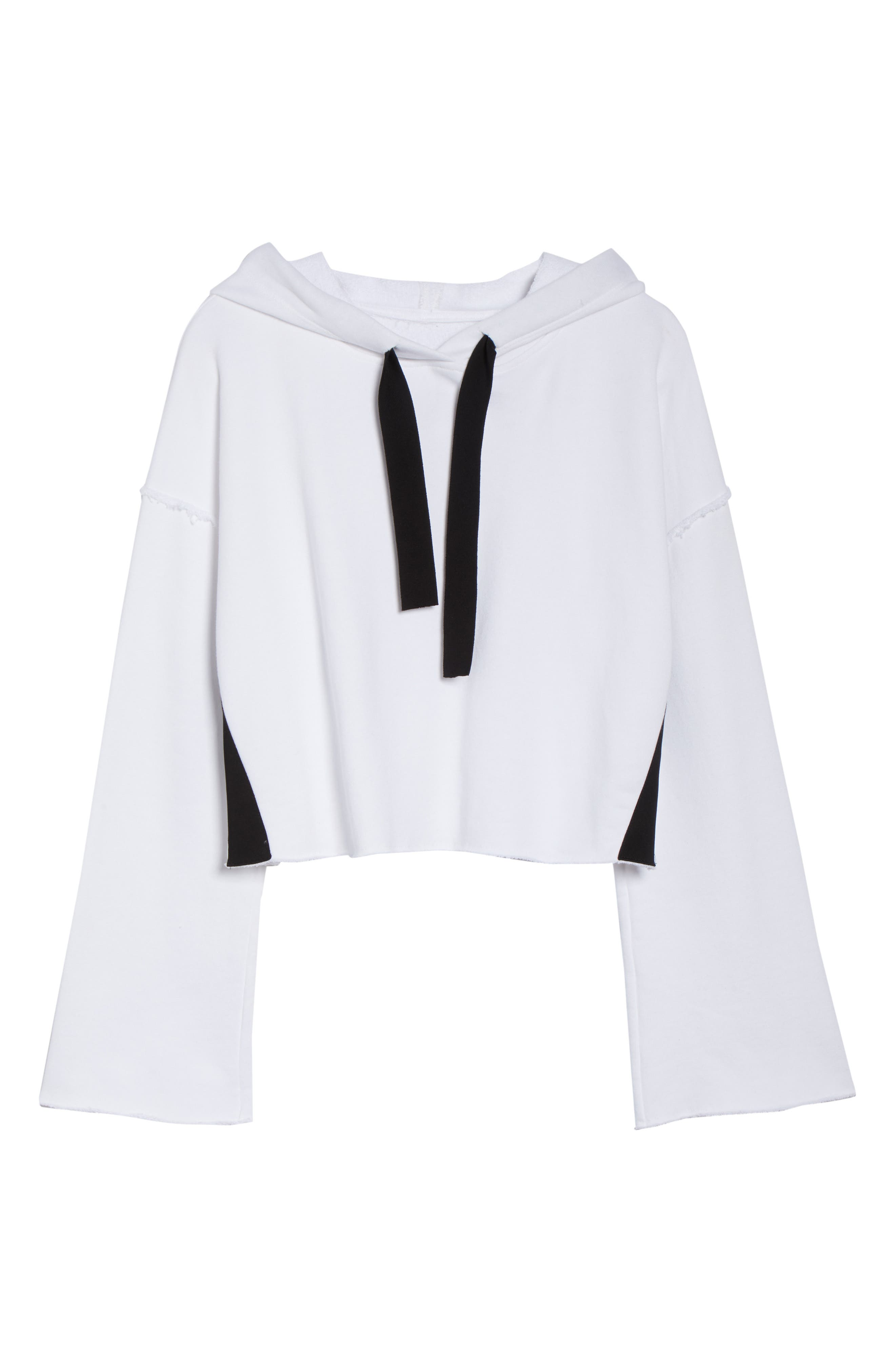 Stance Bell Sleeve Crop Hoodie,                             Alternate thumbnail 7, color,                             White