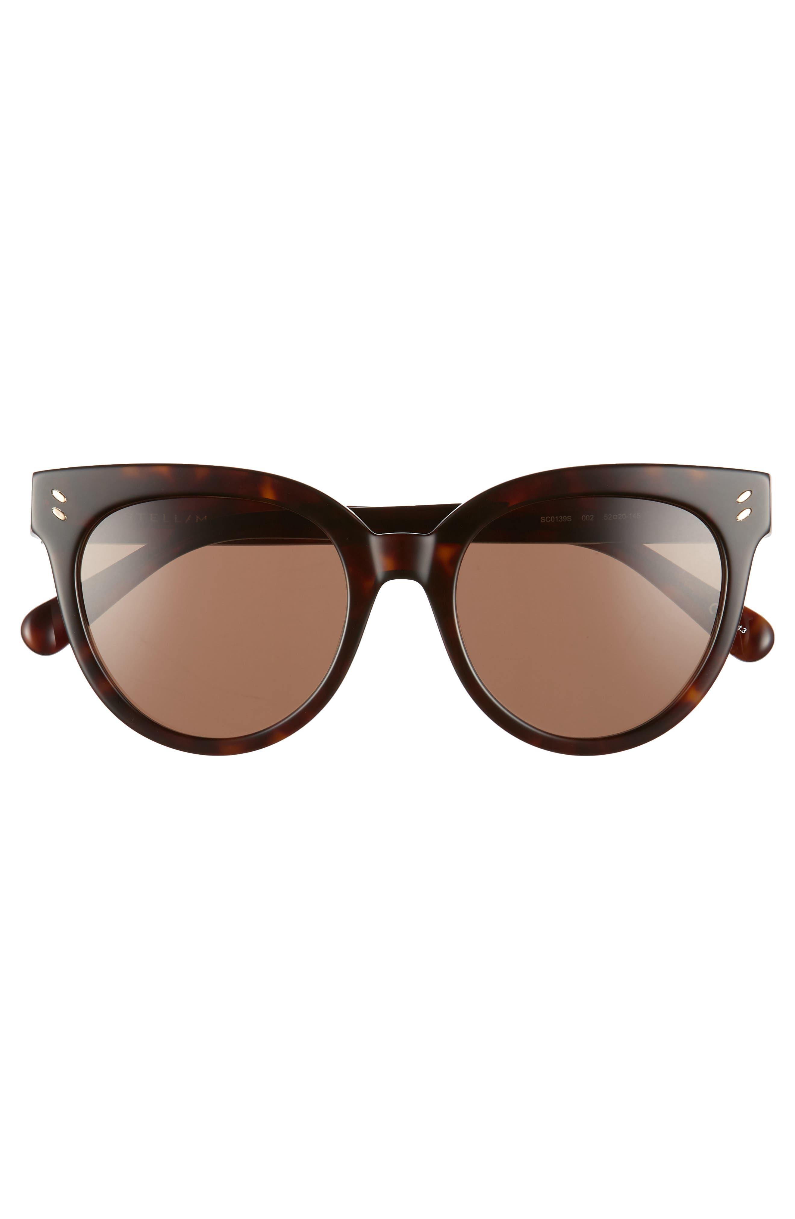52mm Sunglasses,                             Alternate thumbnail 3, color,                             Shiny Dark Havana