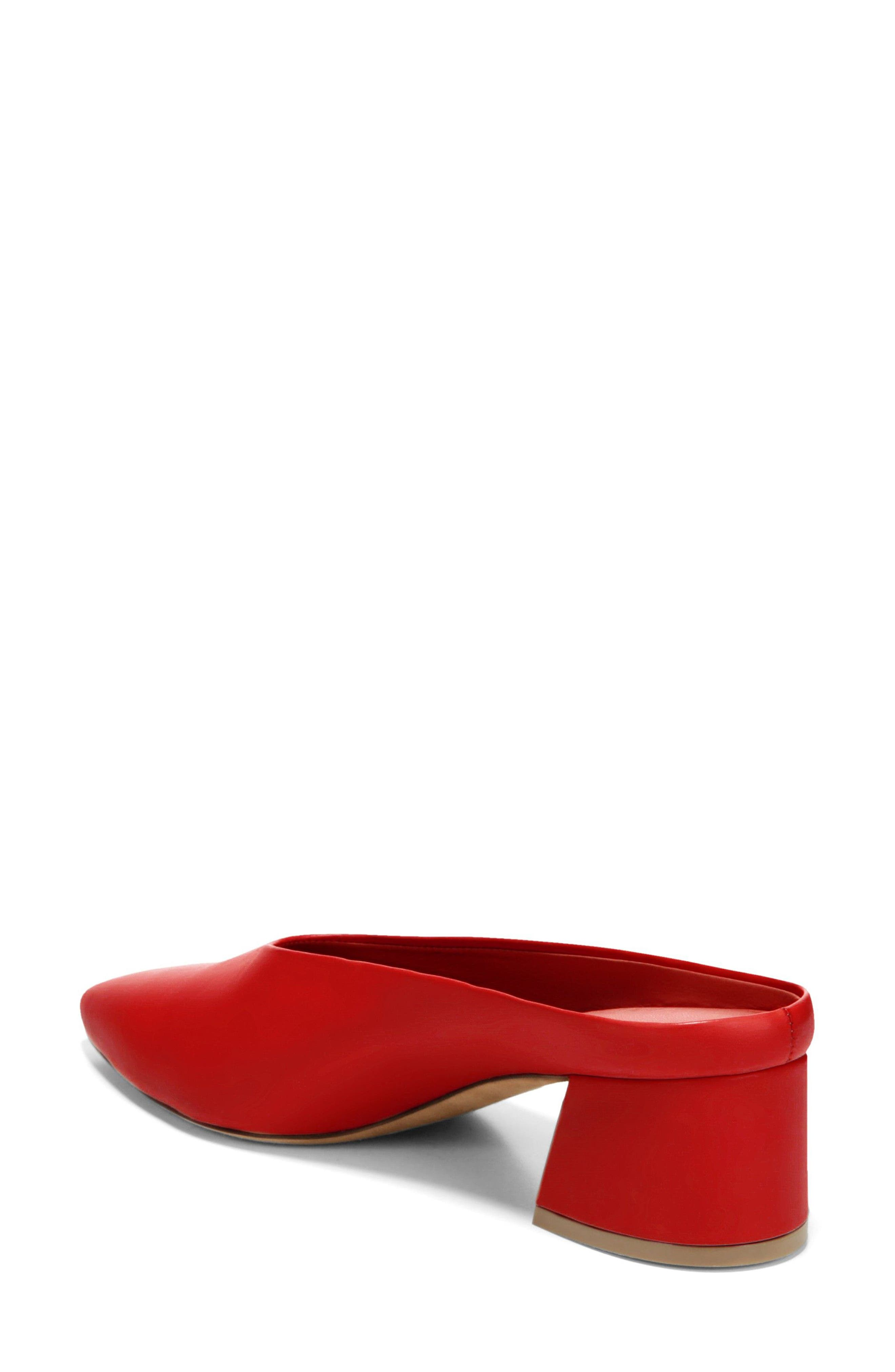 Ralston Pointy Toe Mule,                             Alternate thumbnail 2, color,                             Red Leather