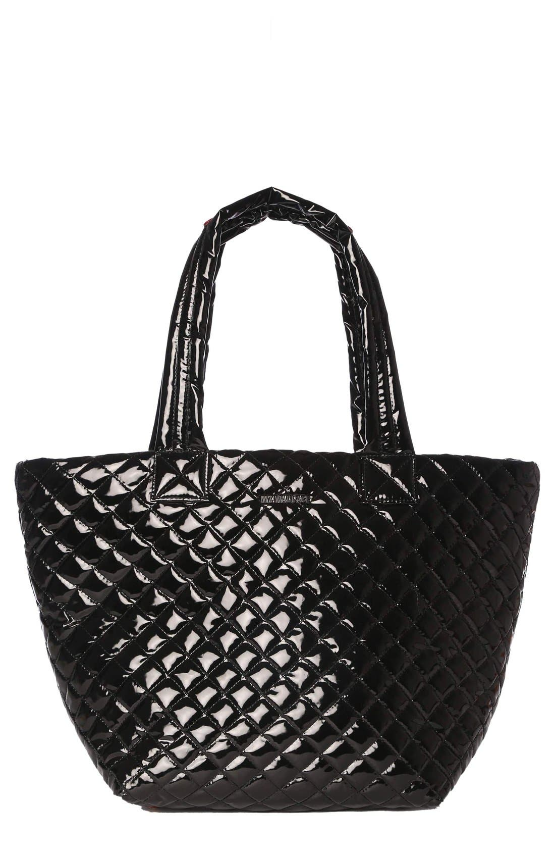 MZ WALLACE Medium Metro Quilted Lacquer Tote