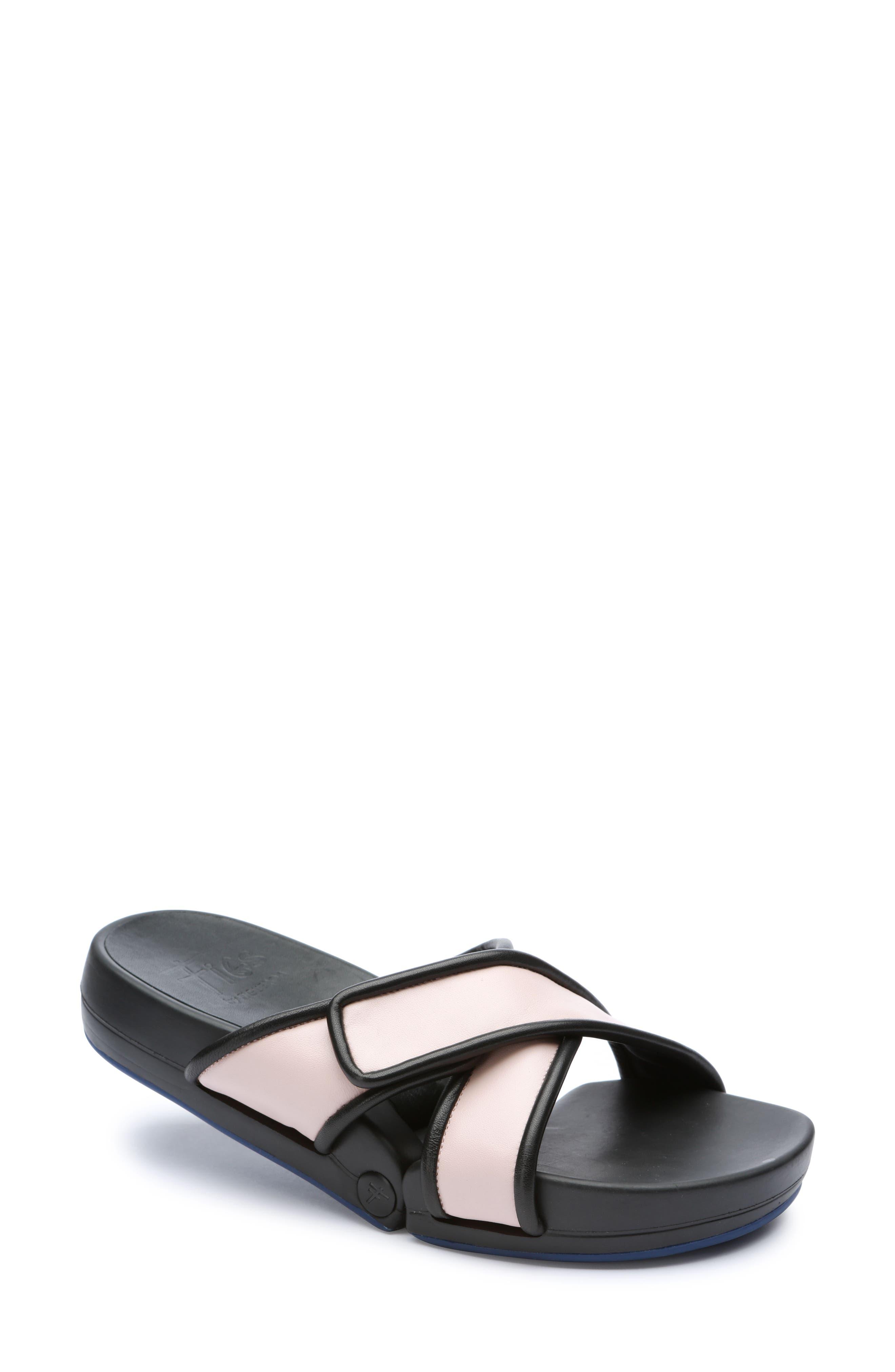 Figomatic Slide Sandal,                         Main,                         color, Pink Nappa Leather