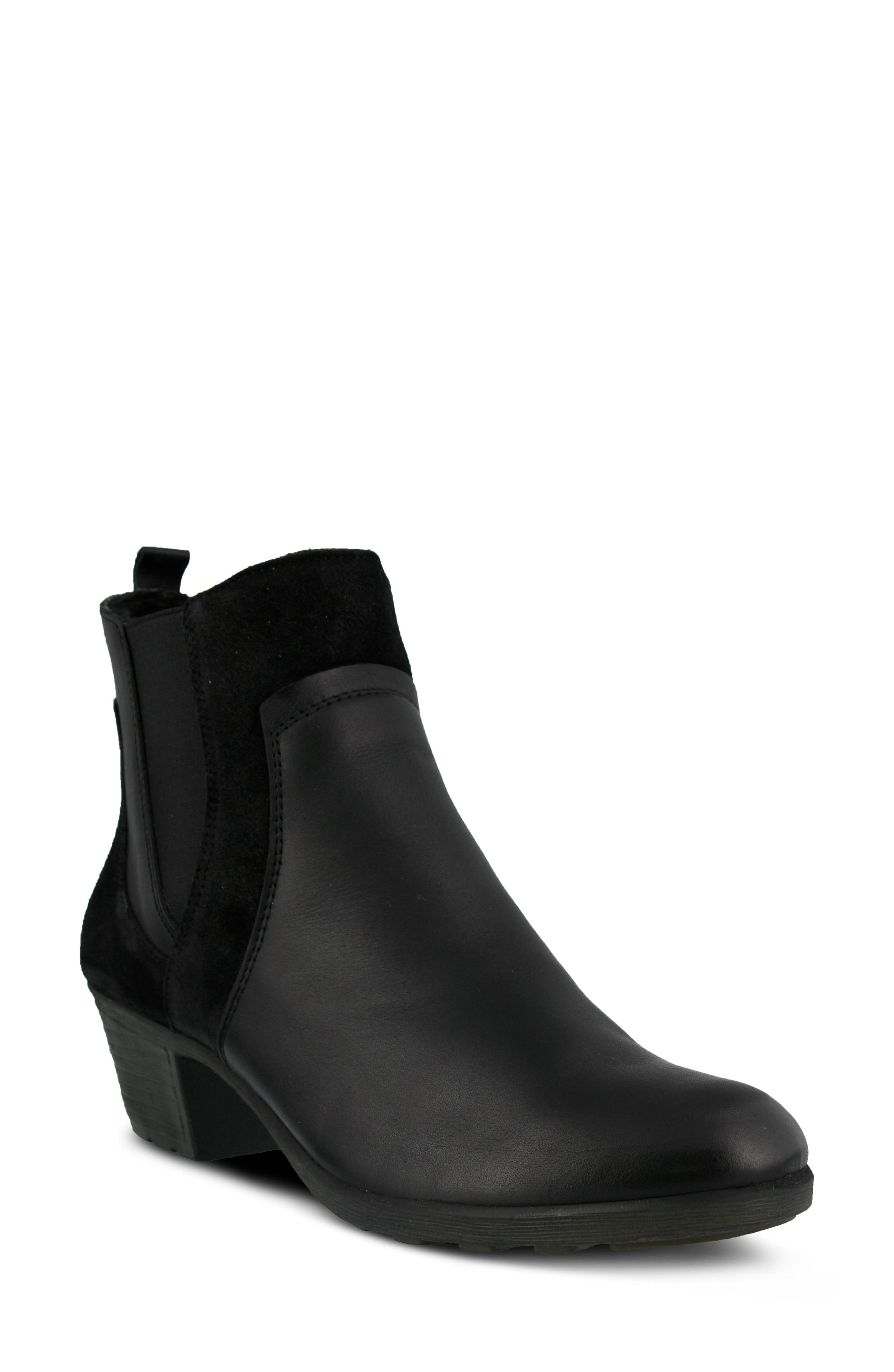 Pousada Bootie,                             Main thumbnail 1, color,                             Black Leather