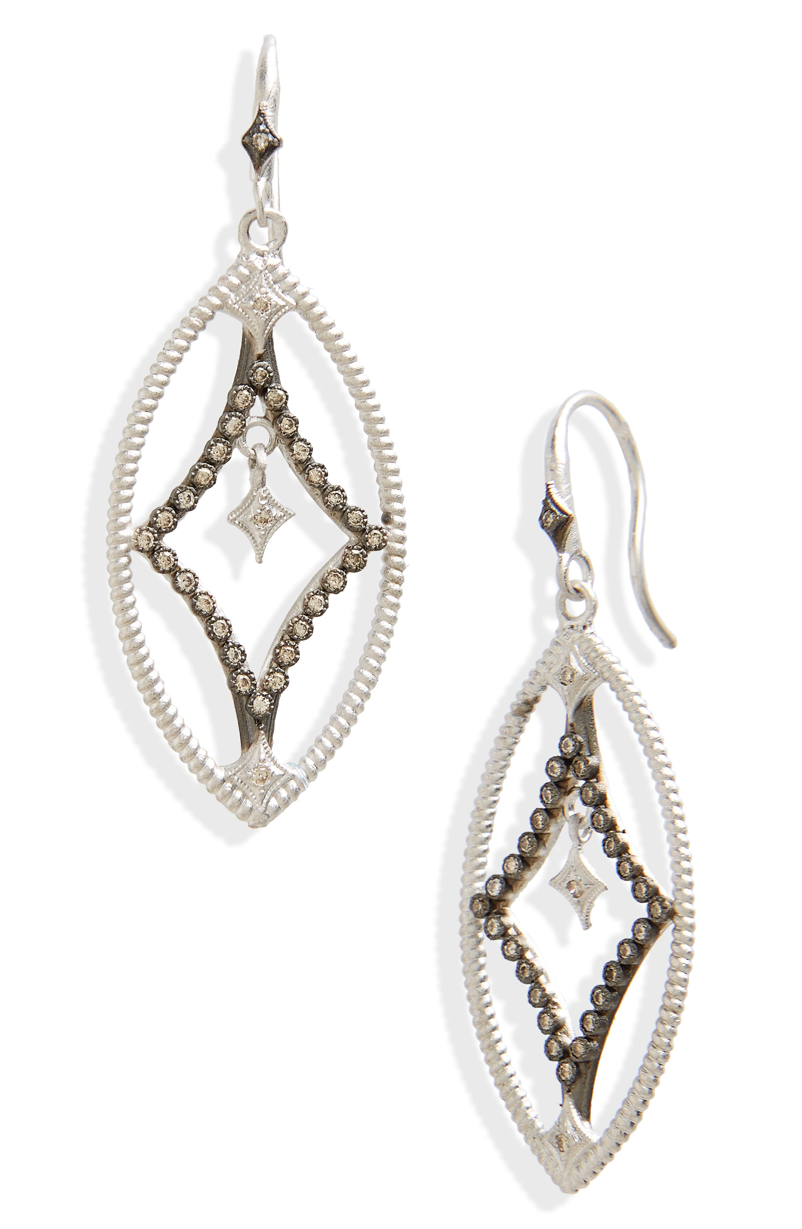 New World Crivelli Drop Earrings,                             Main thumbnail 1, color,                             Silver