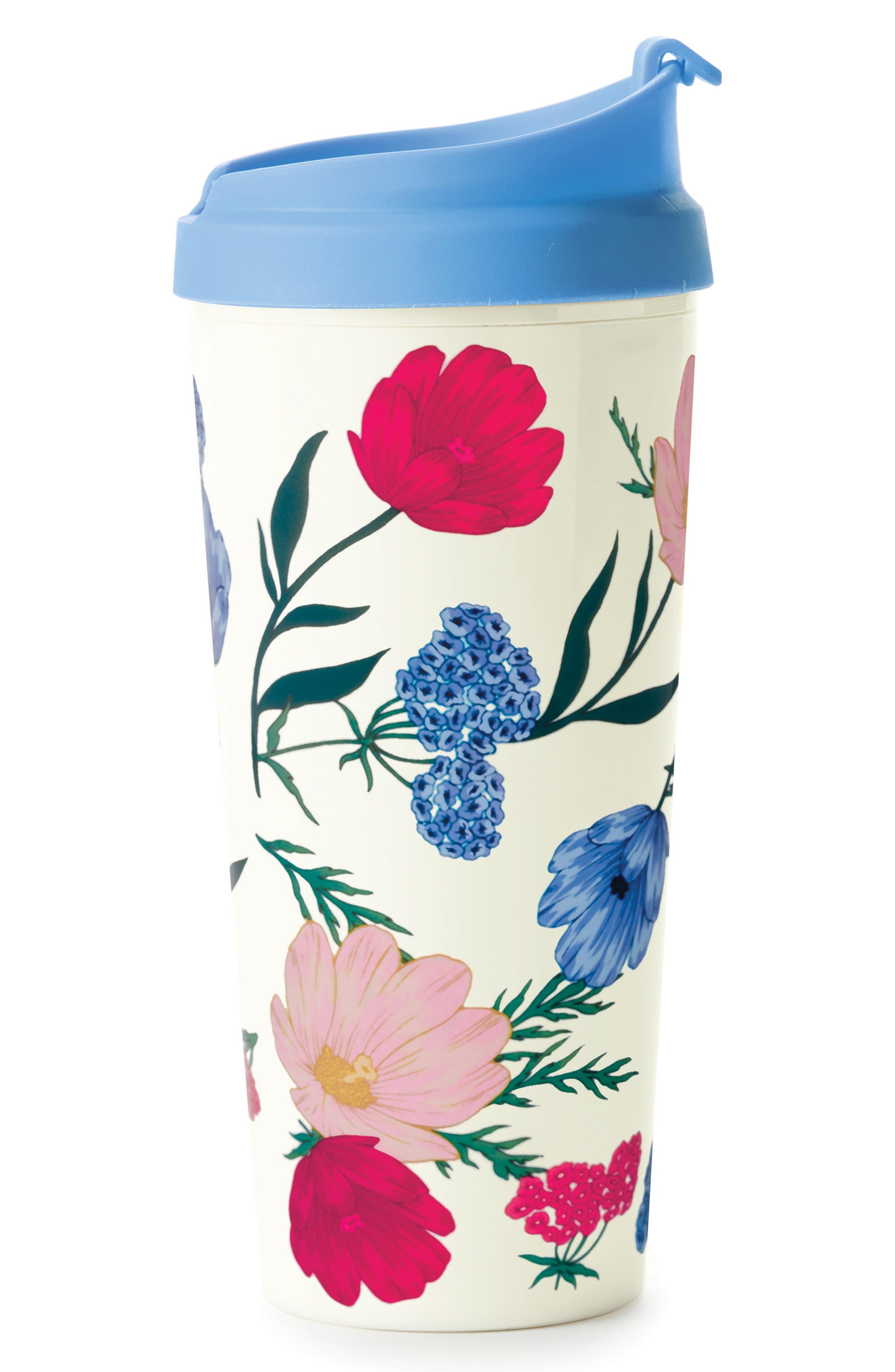blossom thermal travel mug,                             Main thumbnail 1, color,                             Blossom