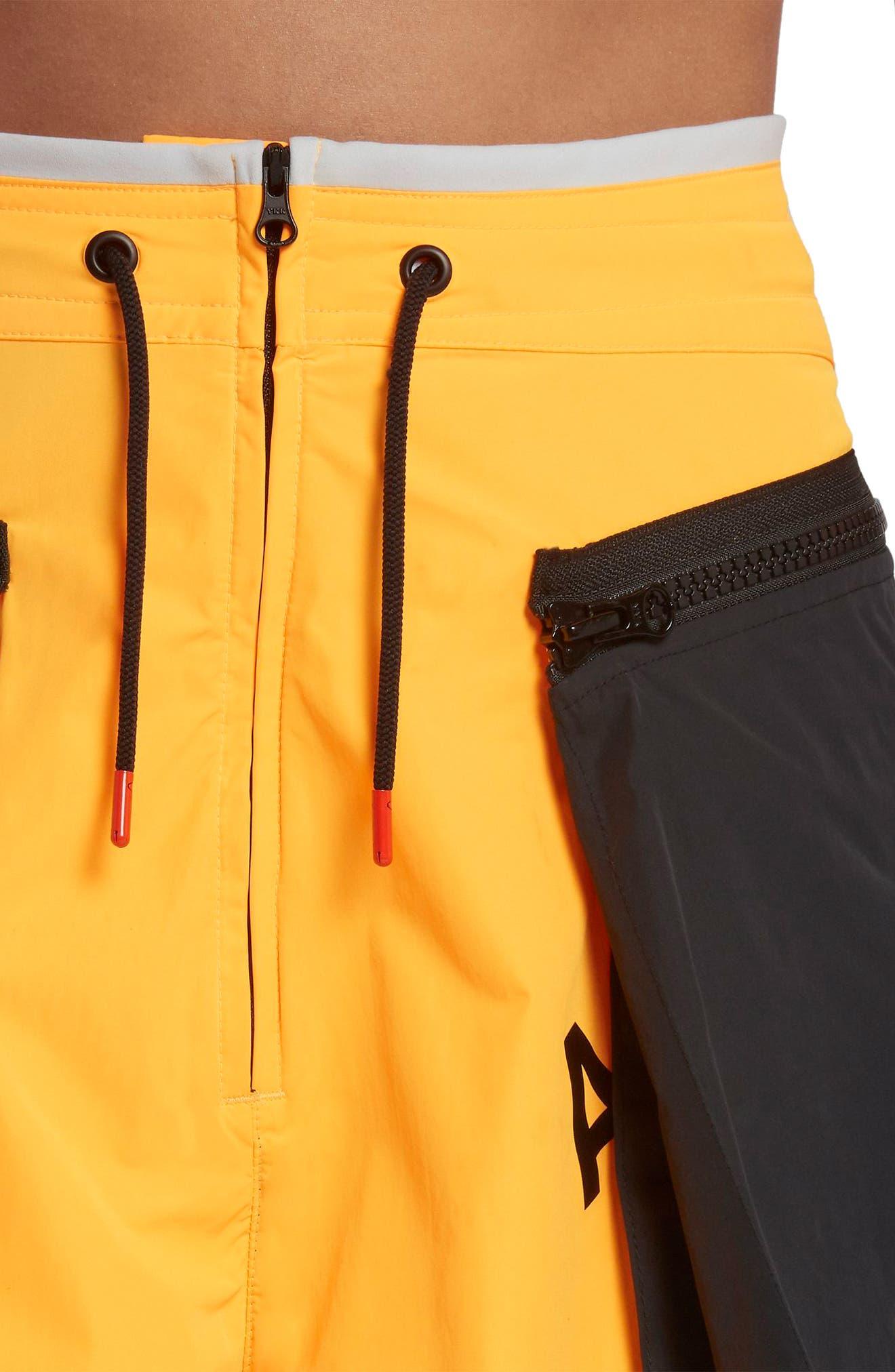 NikeLab ACG Women's Cargo Shorts.,                             Alternate thumbnail 5, color,                             Laser Orange/ Vast Grey