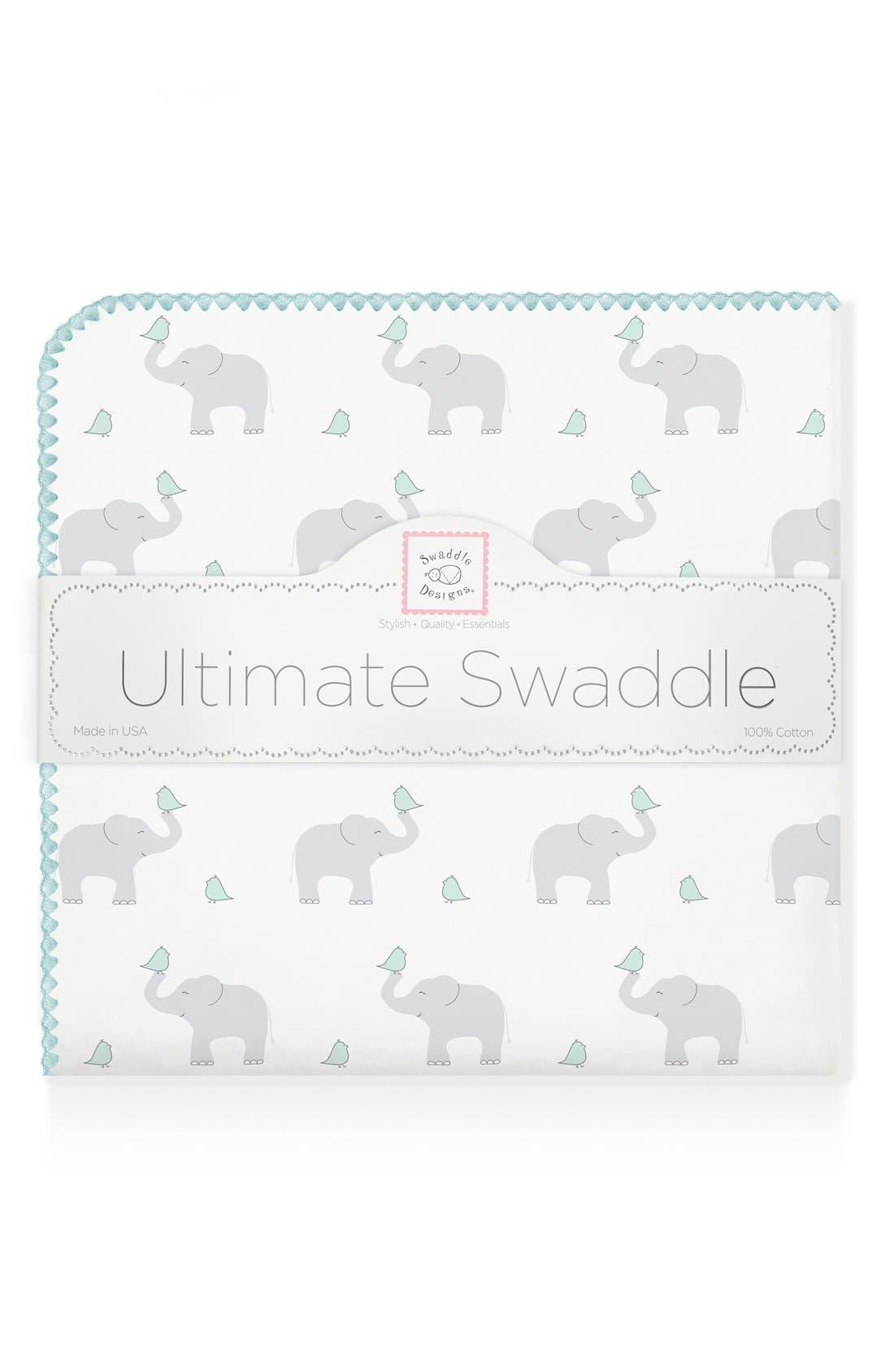 Alternate Image 1 Selected - Swaddle Designs 'Elephant & Chickies' Blanket