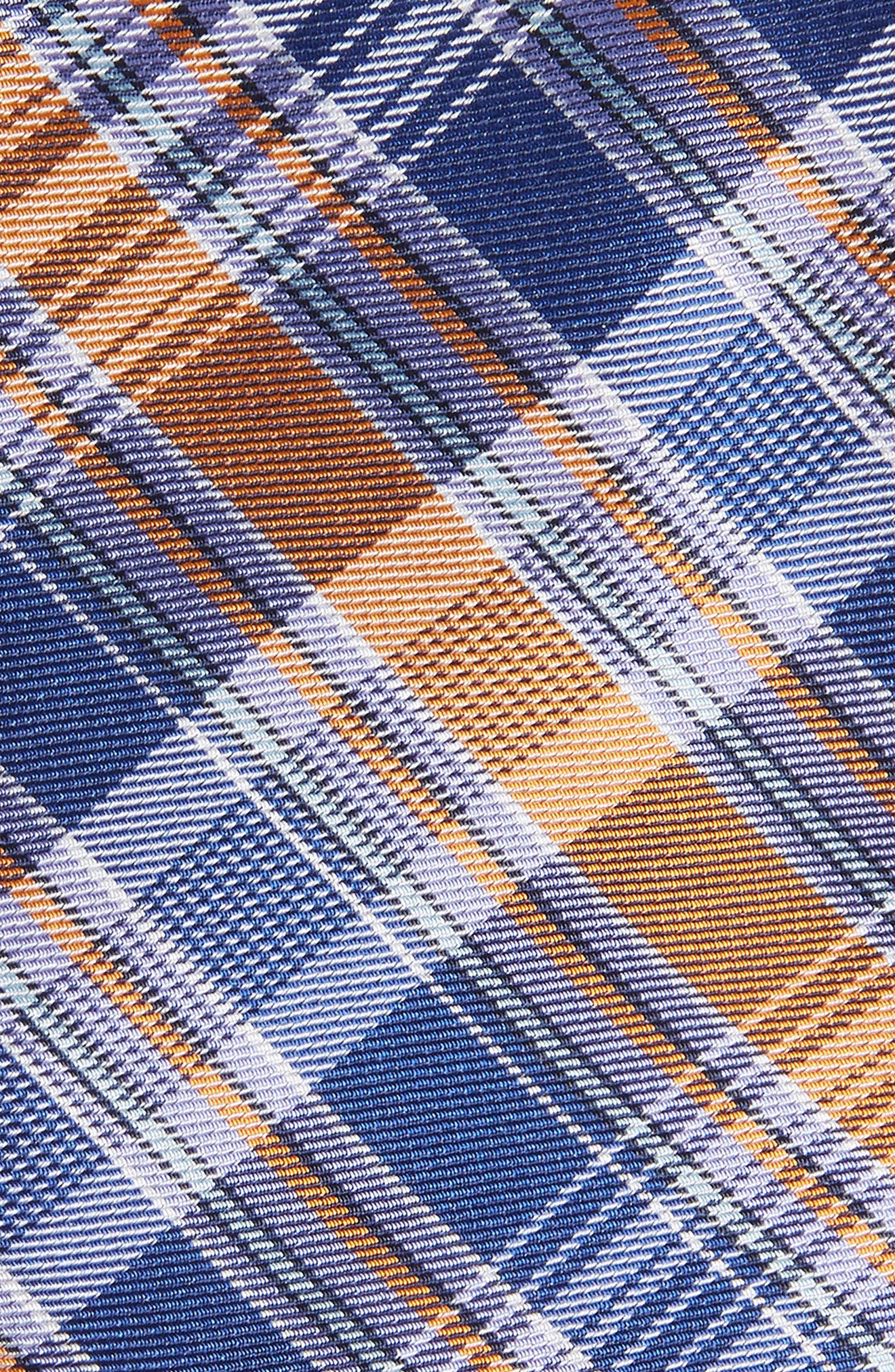 Sassafrass Plaid Silk Tie,                             Alternate thumbnail 2, color,                             Bright Fashion Blue