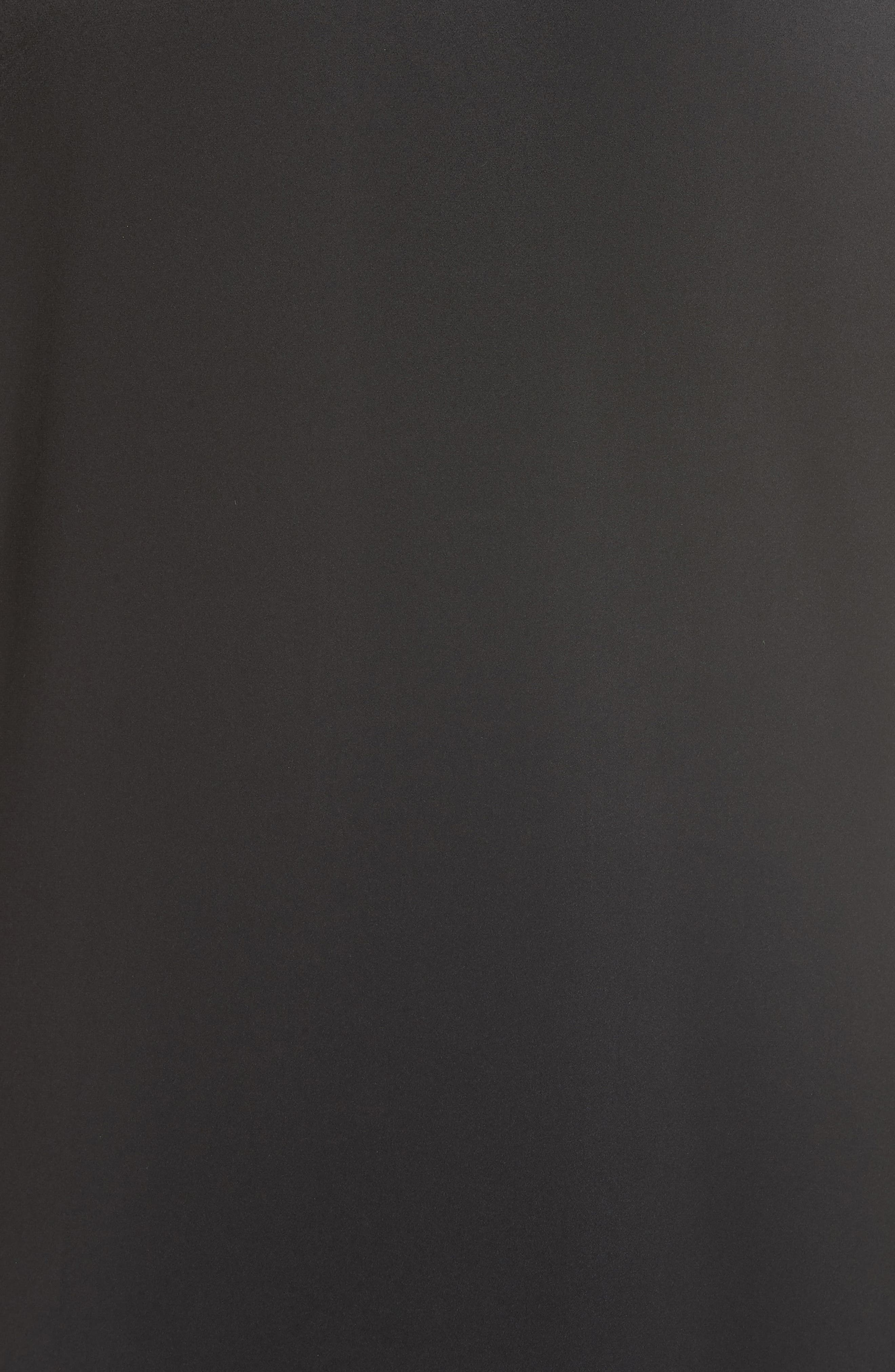 Bhumi Tie Waist Satin Dress,                             Alternate thumbnail 5, color,                             Black