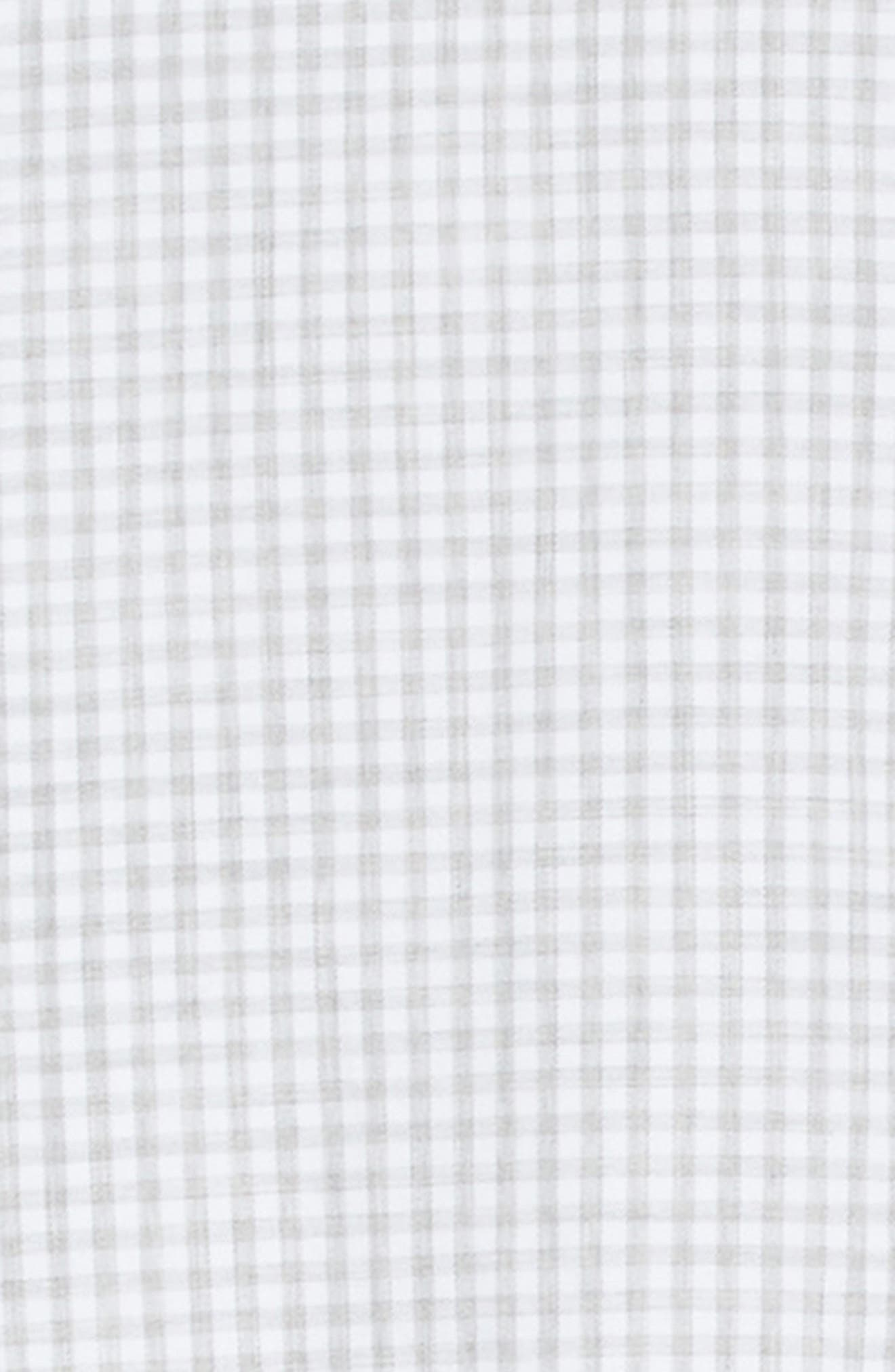Slim Fit Check Dress Shirt,                             Alternate thumbnail 6, color,                             Light Grey