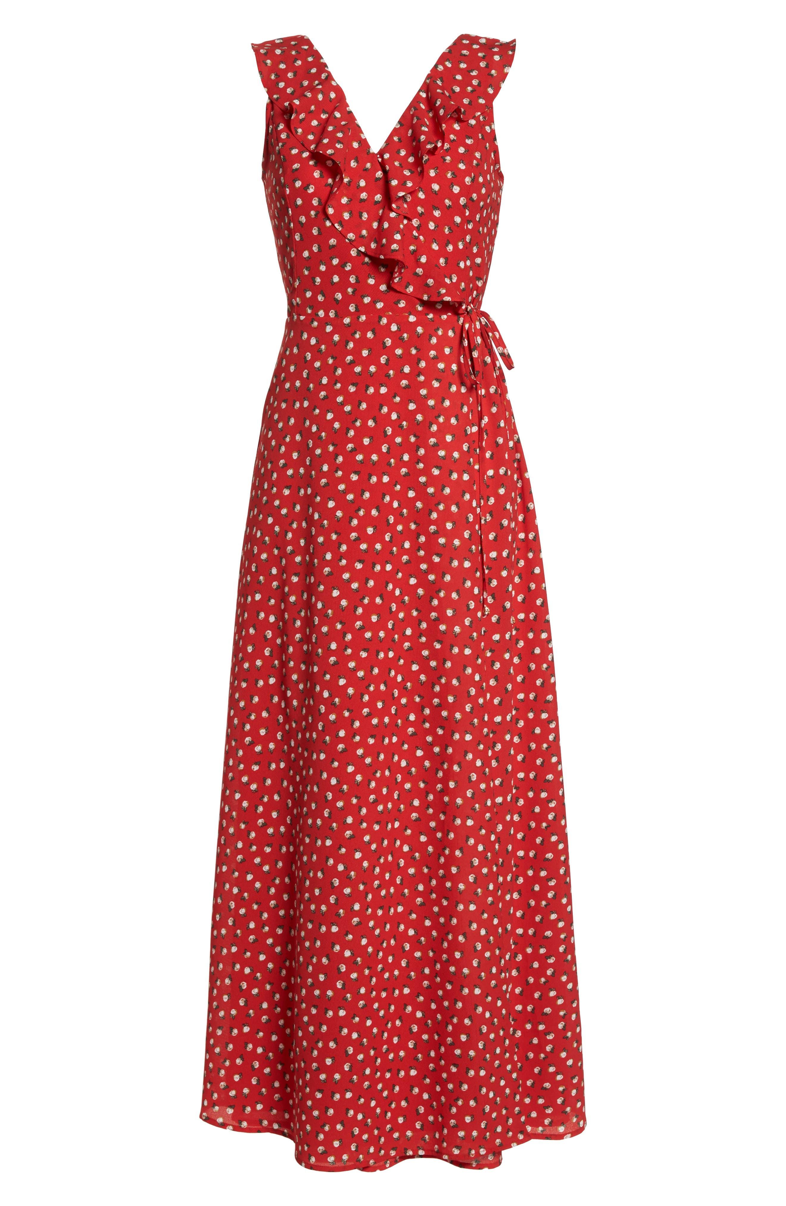 Nora Maxi Dress,                             Alternate thumbnail 7, color,                             Cherry