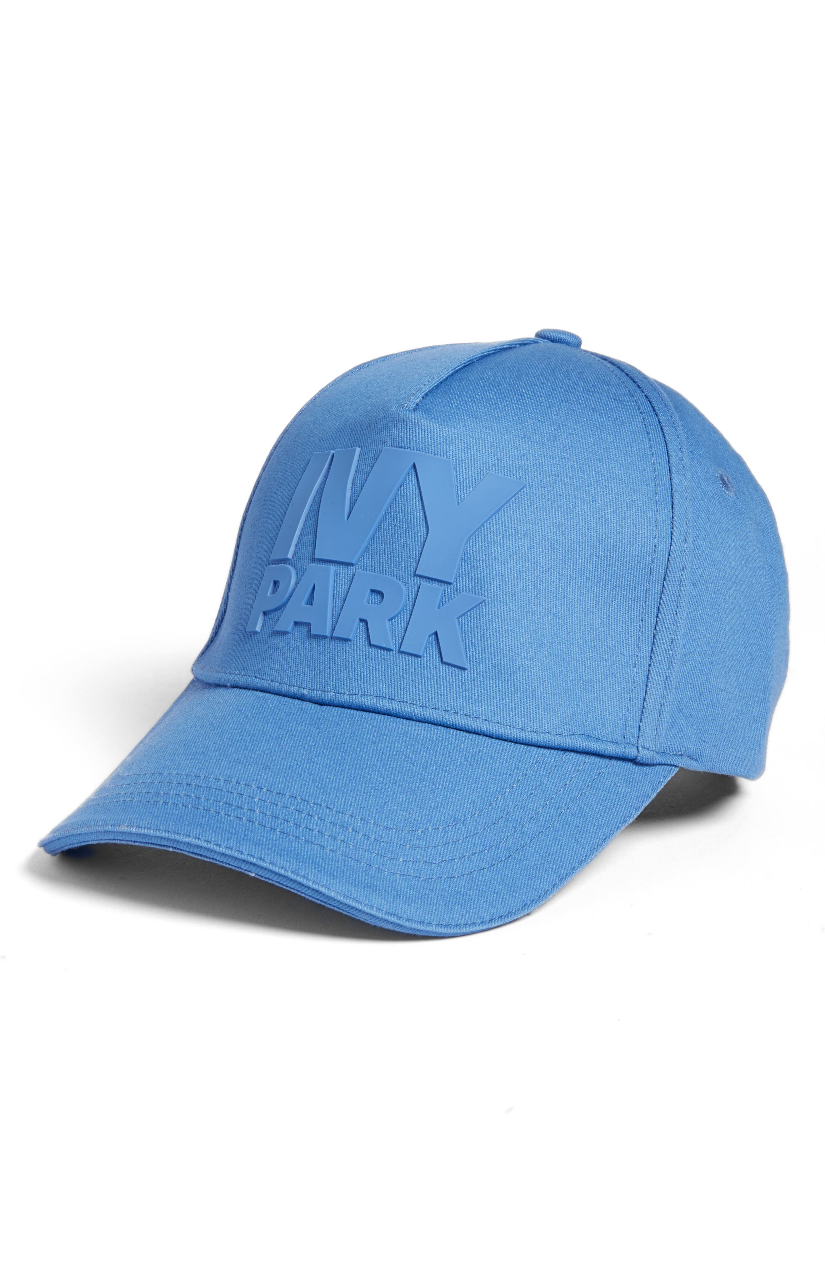 Silicone Logo Baseball Cap,                         Main,                         color, Wedgewood Blue