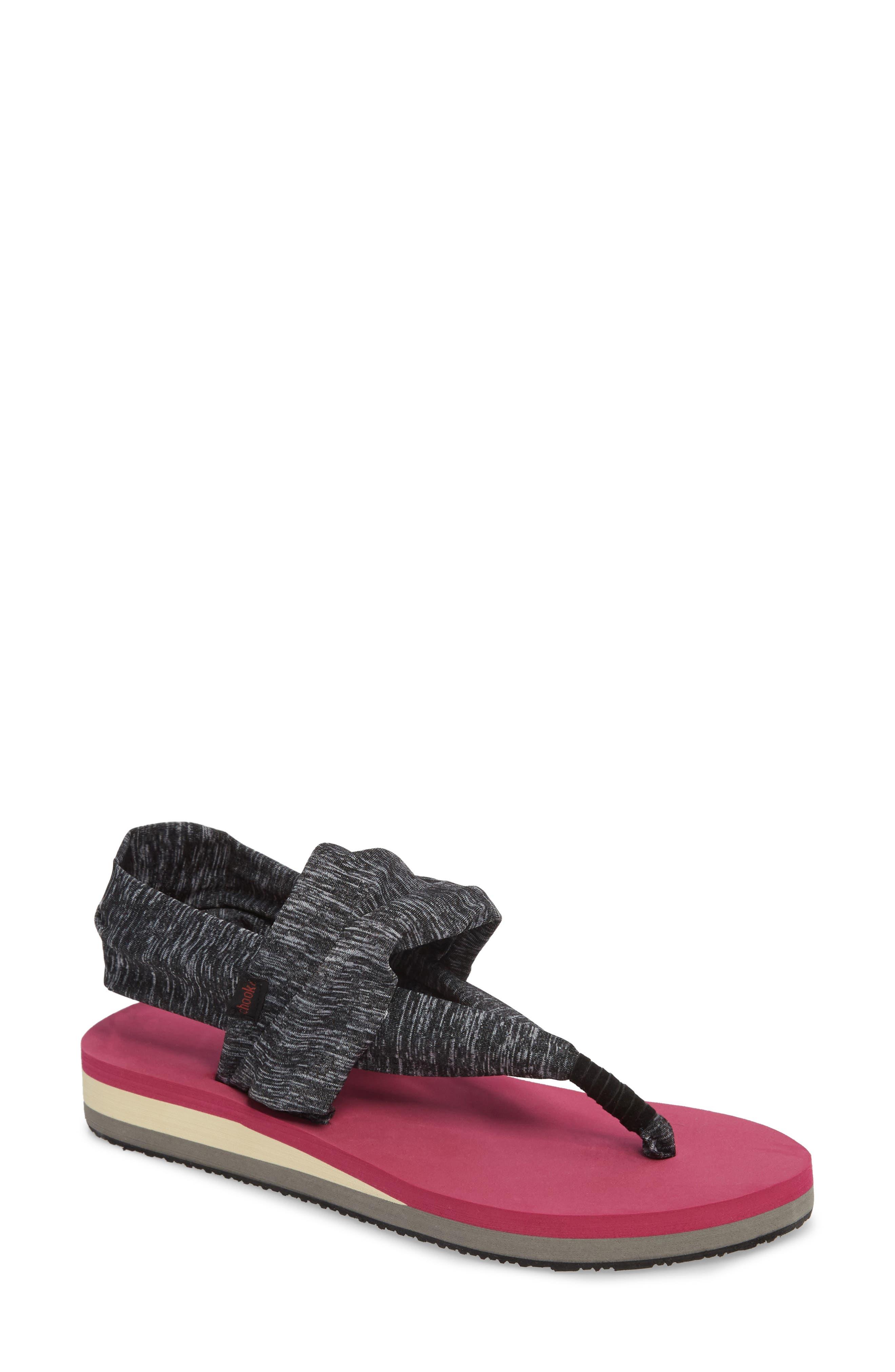 Sling Sandal,                         Main,                         color, Magenta