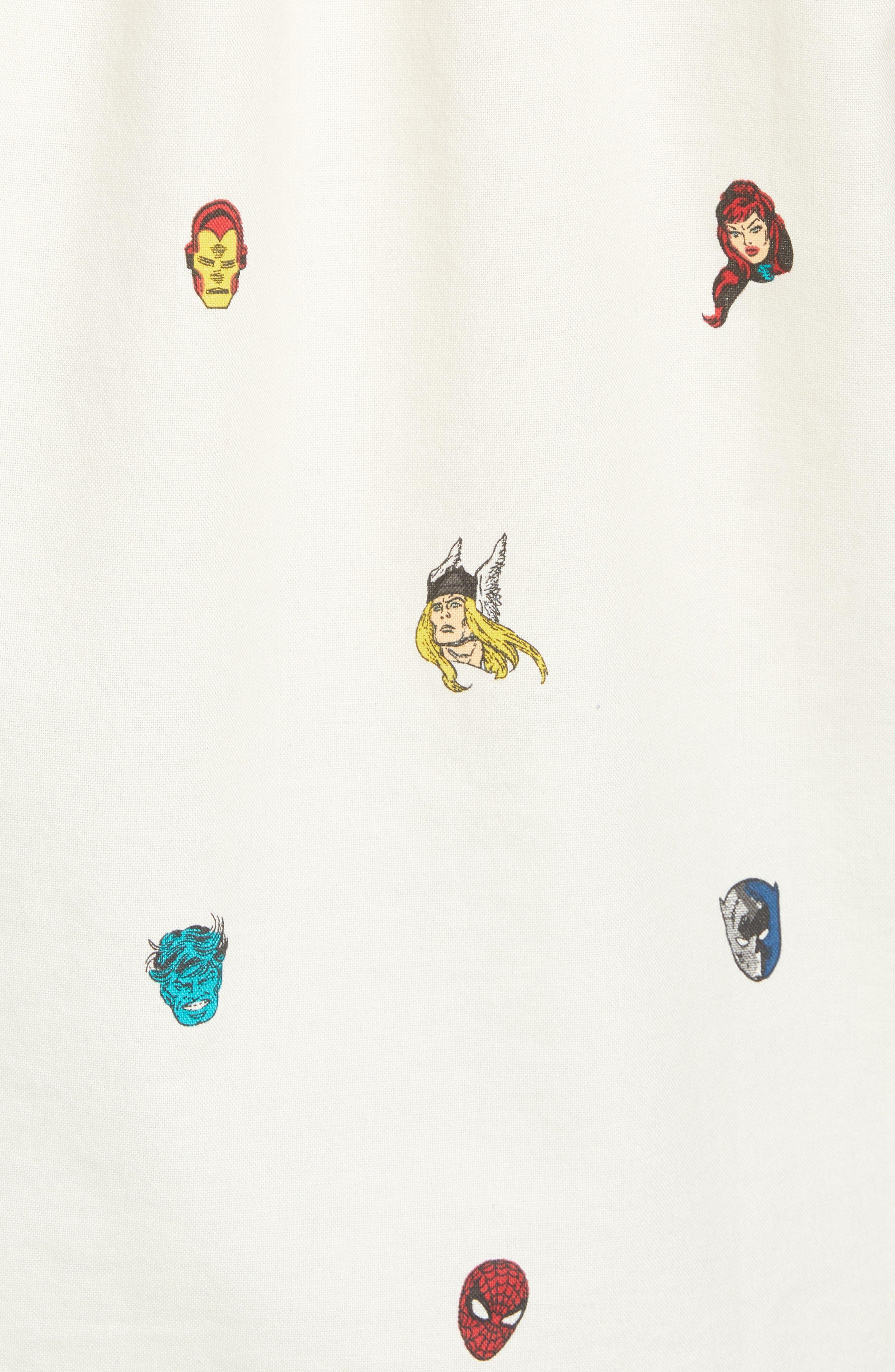 x Marvel<sup>®</sup> Houser Woven Shirt,                             Alternate thumbnail 5, color,                             Marvel Avengers