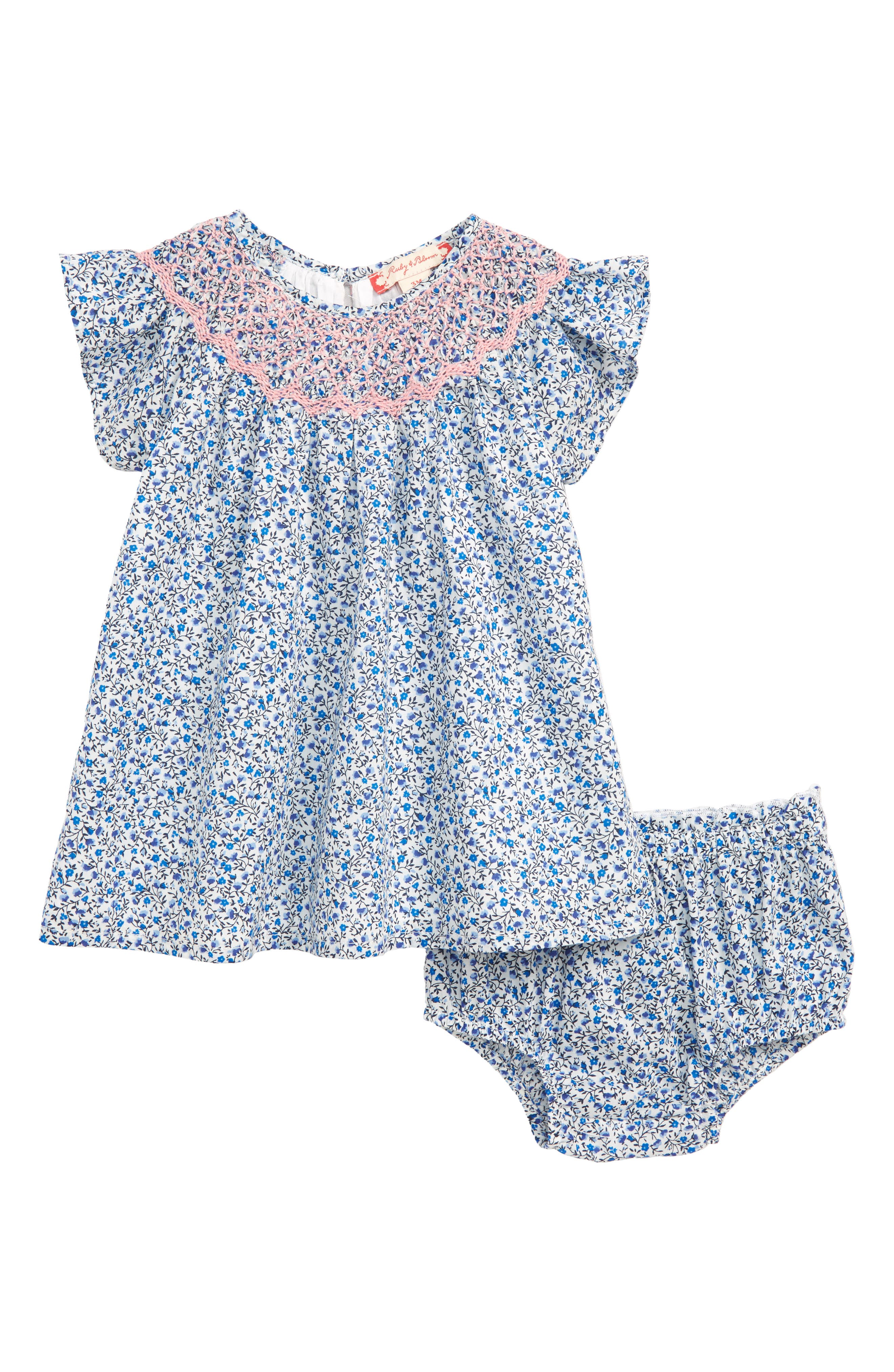 Ruby & Bloom Ditsy Smocked Dress (Baby Girls)