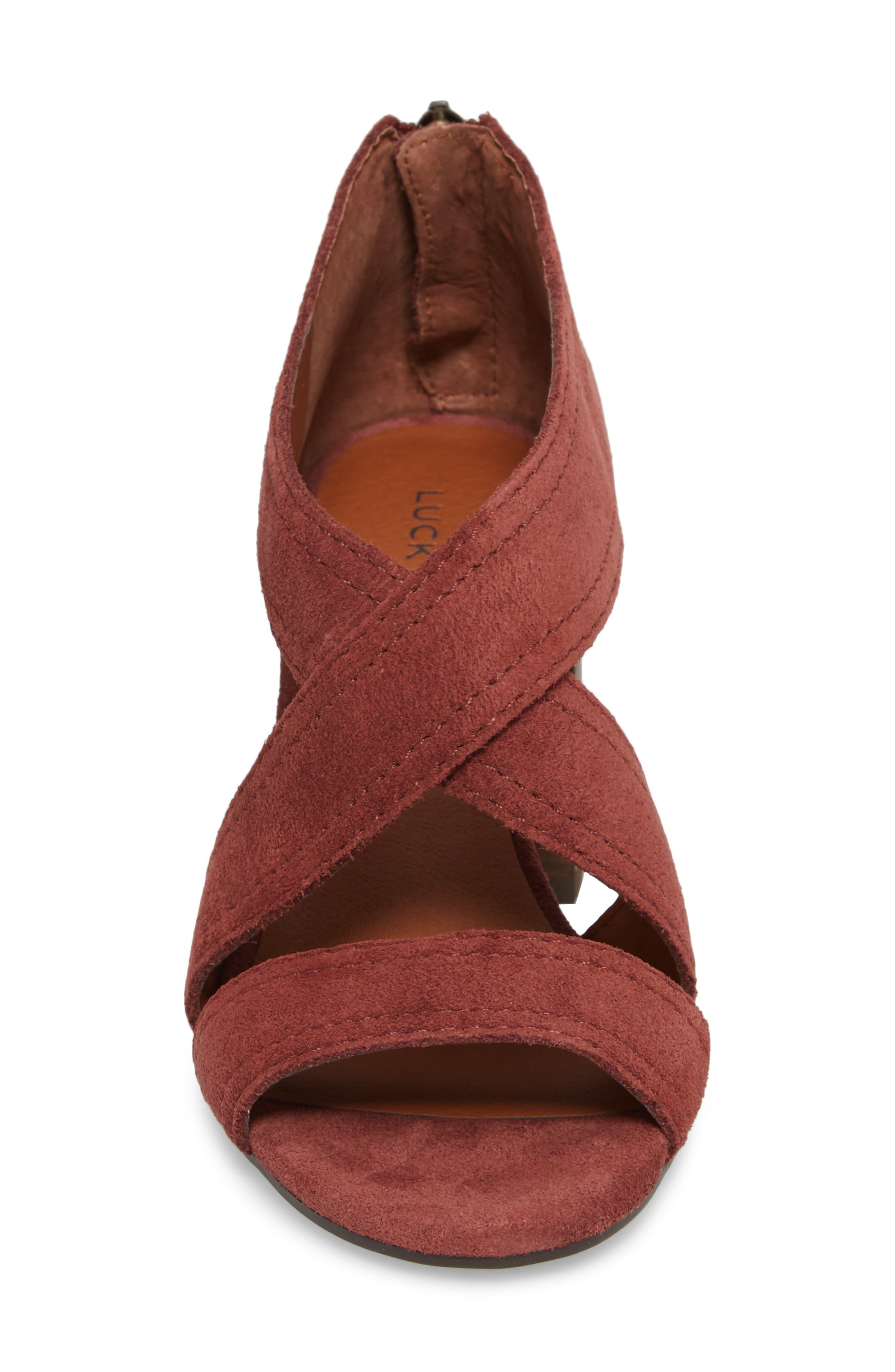 Vidva Strappy Sandal,                             Alternate thumbnail 4, color,                             Burgundy Suede