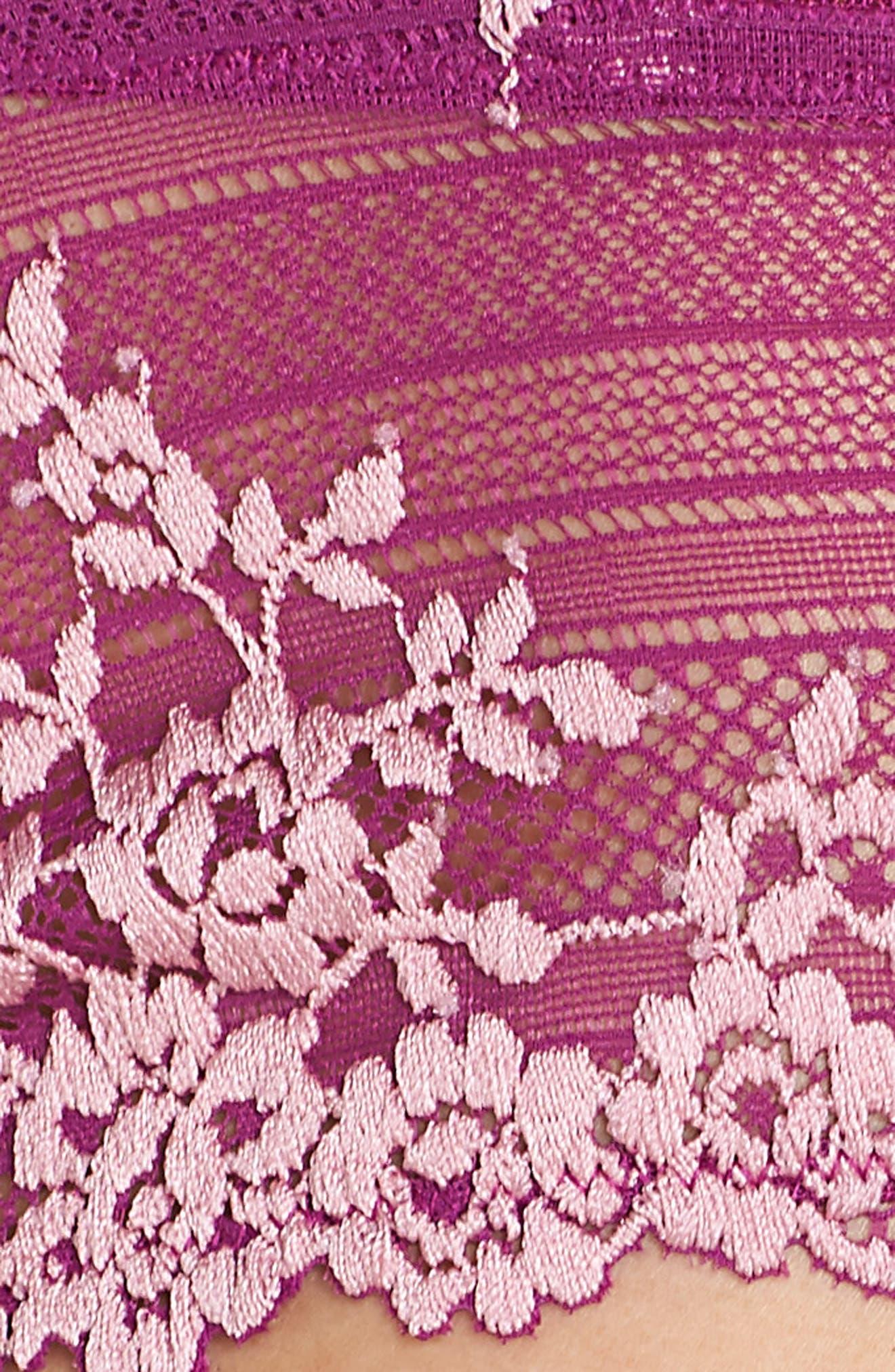 'Embrace' Tanga,                             Alternate thumbnail 8, color,                             Hollyhock/ Chalk Pink