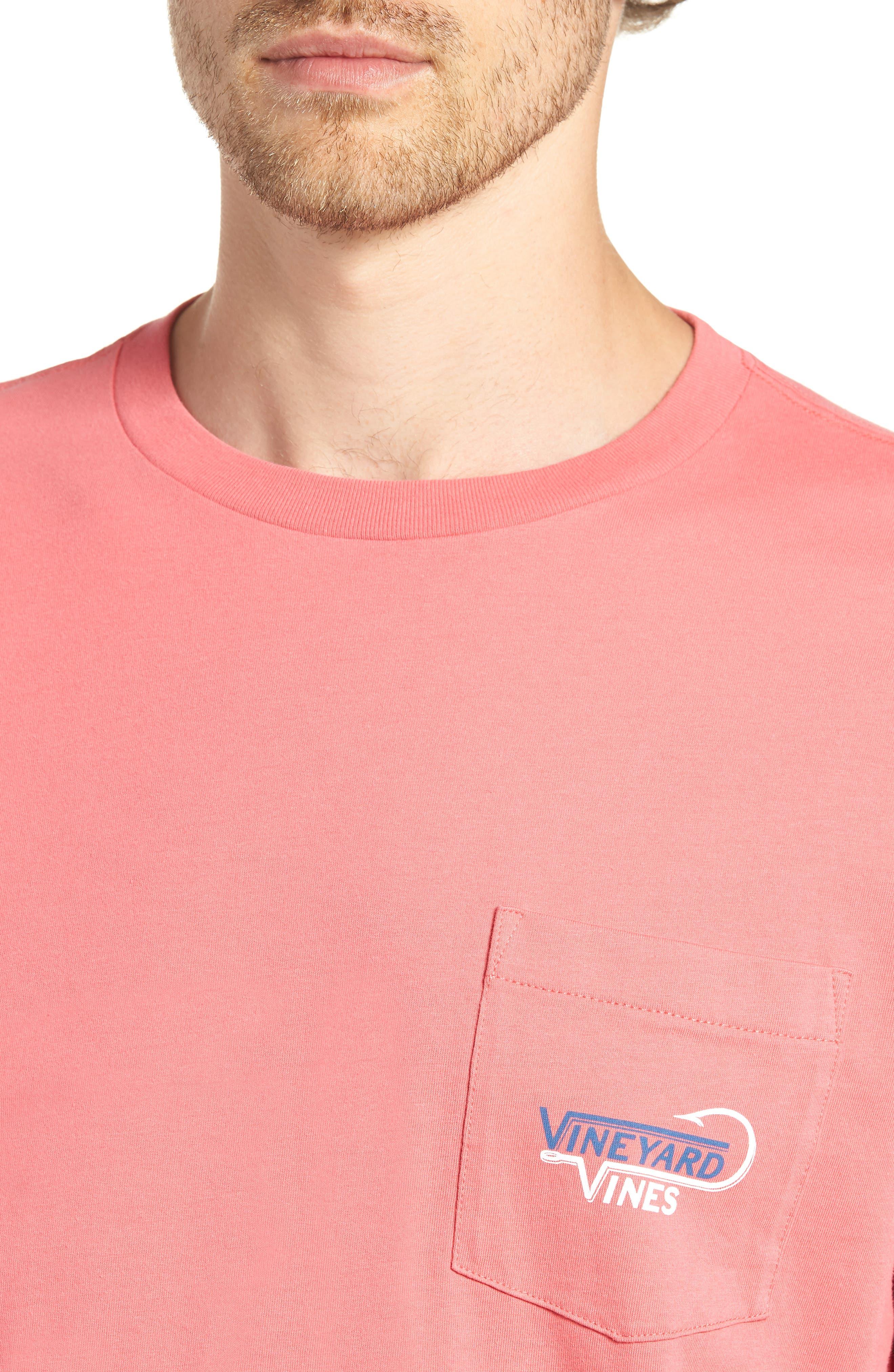 Vineyard Hook Regular Fit Crewneck T-Shirt,                             Alternate thumbnail 4, color,                             Jetty Red