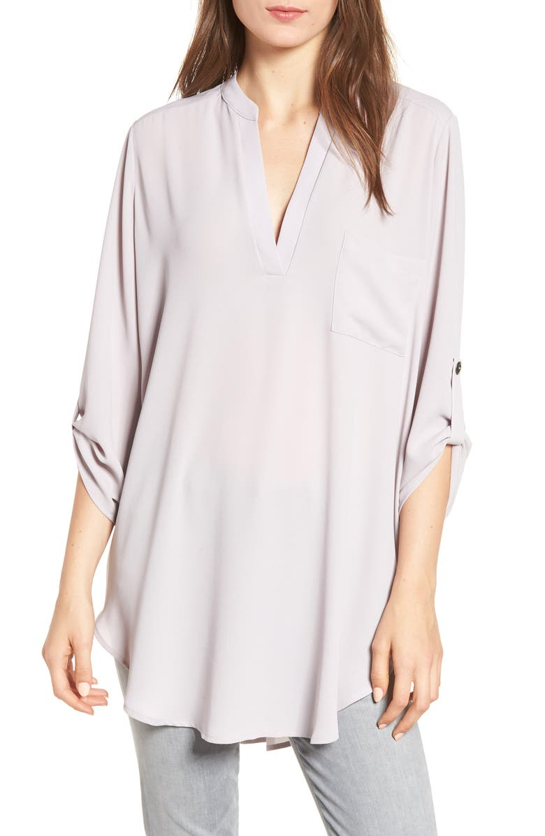 Perfect Roll Tab Sleeve Tunic | Nordstrom