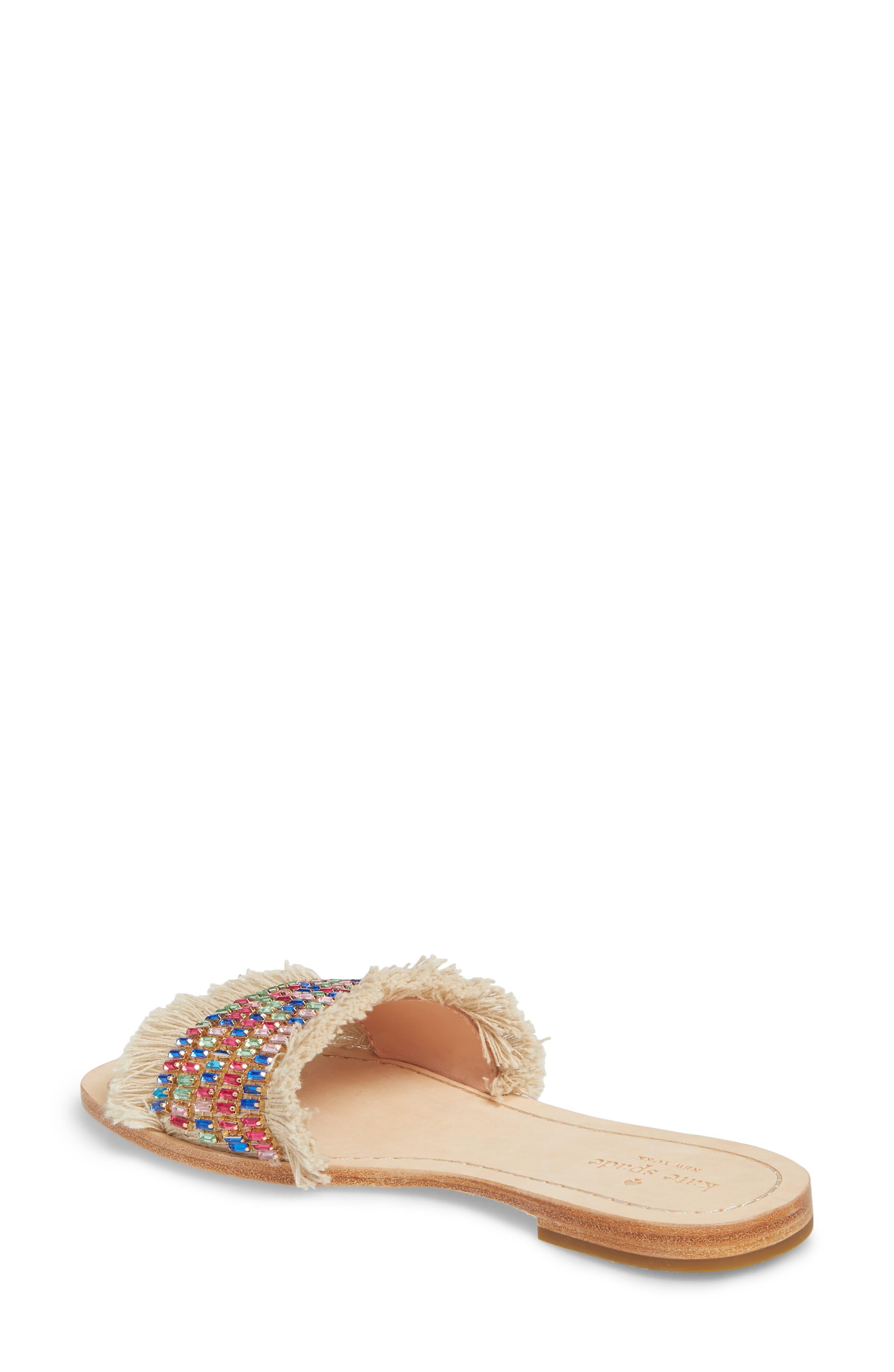 solaina slide sandal,                             Alternate thumbnail 2, color,                             Natural/ Multi