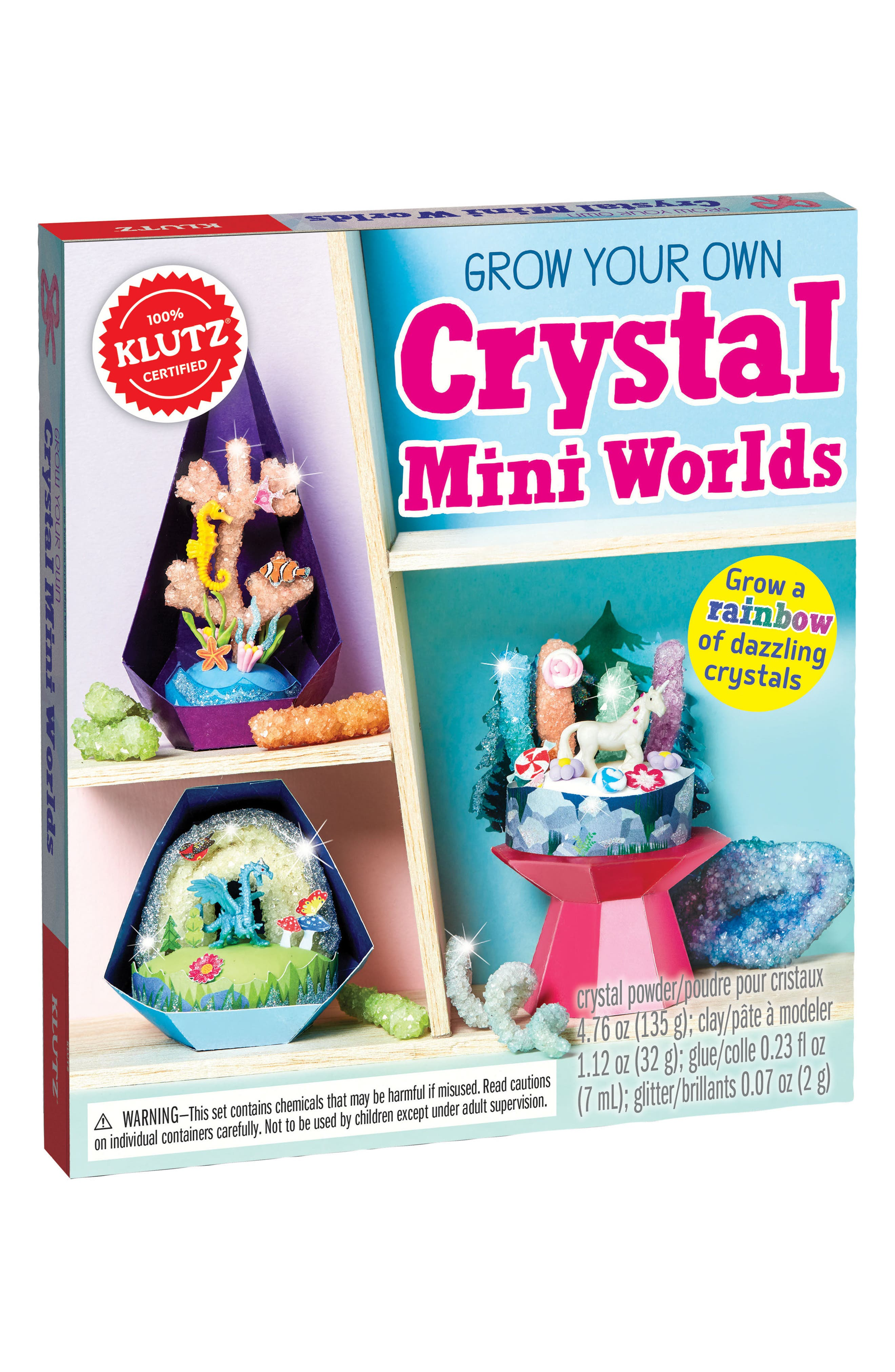 Grow Your Own Crystal Mini Worlds Kit,                             Alternate thumbnail 7, color,                             None