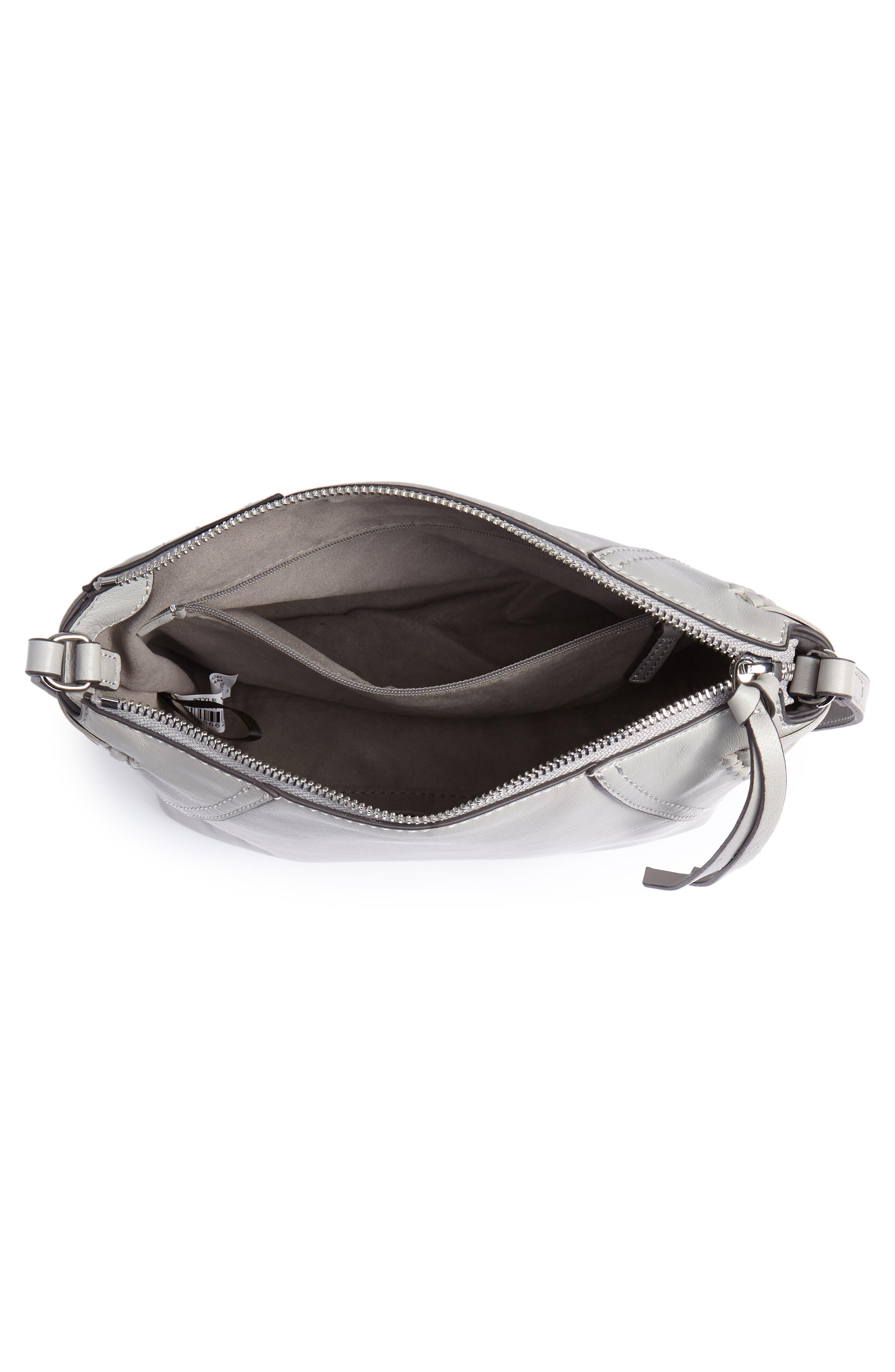 Ilda Leather Crossbody Bag,                             Alternate thumbnail 4, color,                             Full Steam