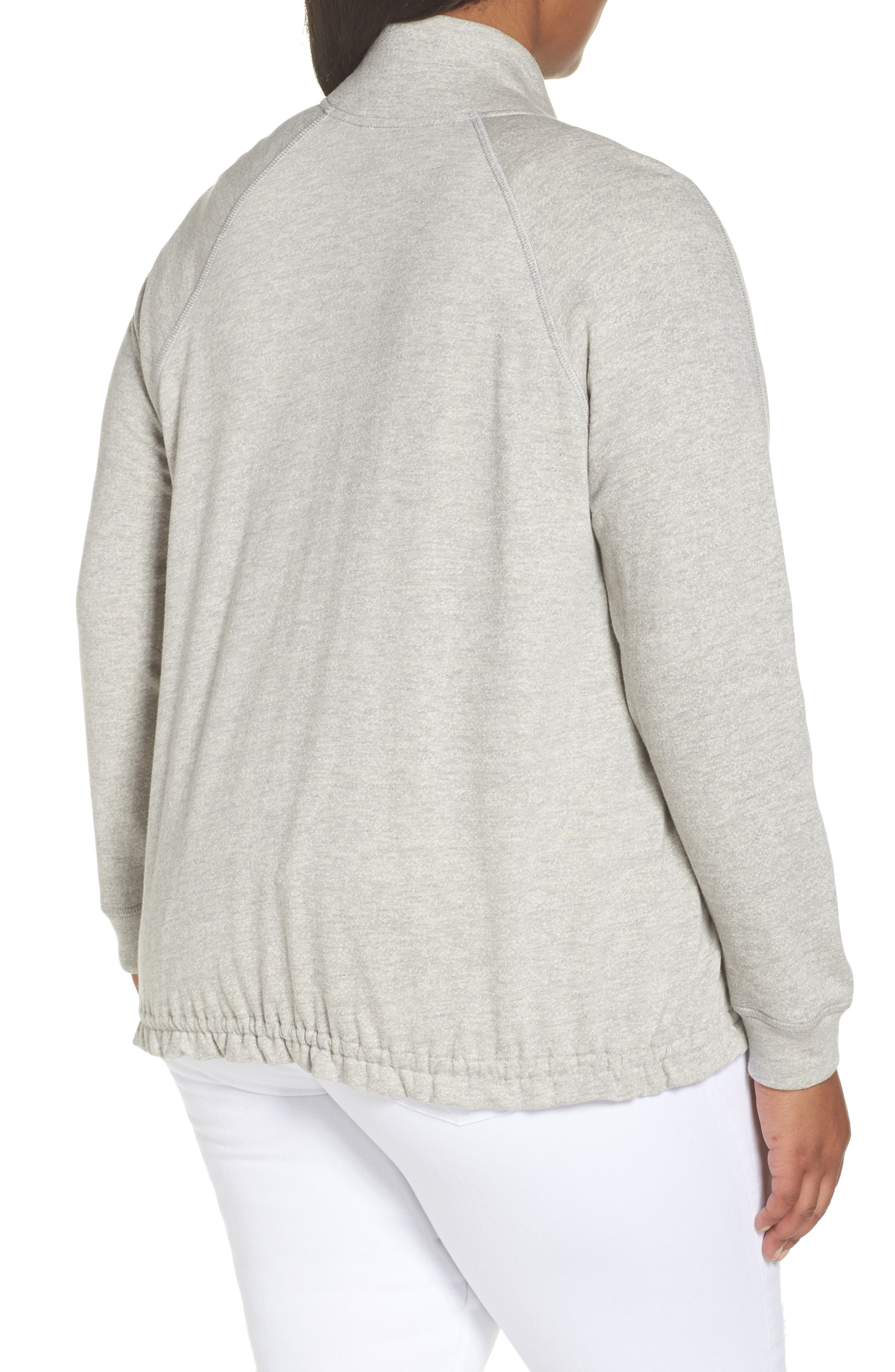 Off-Duty Knit Track Jacket,                             Alternate thumbnail 2, color,                             Grey Heather