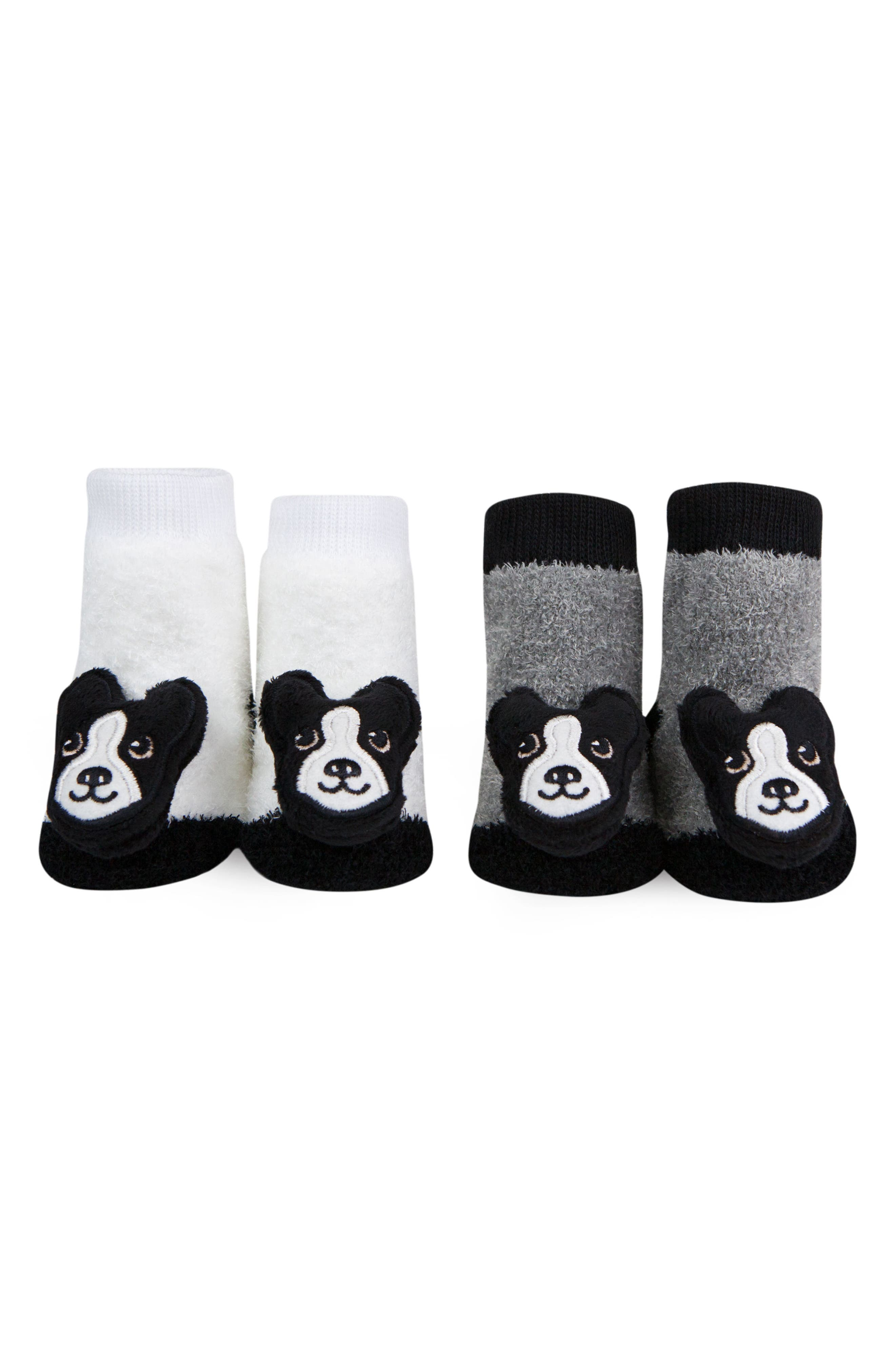 2-Pack Boston Terrier Rattle Socks,                         Main,                         color, Black/ White