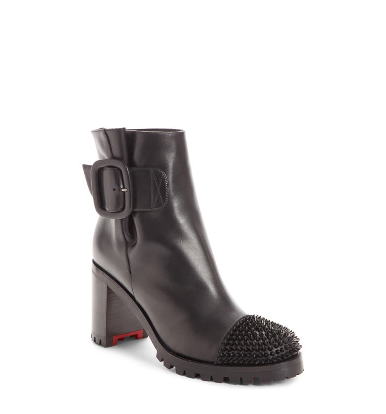 d23ac331619 Christian Louboutin Olivia Snow 70 Spiked Leather Ankle Boots In Black