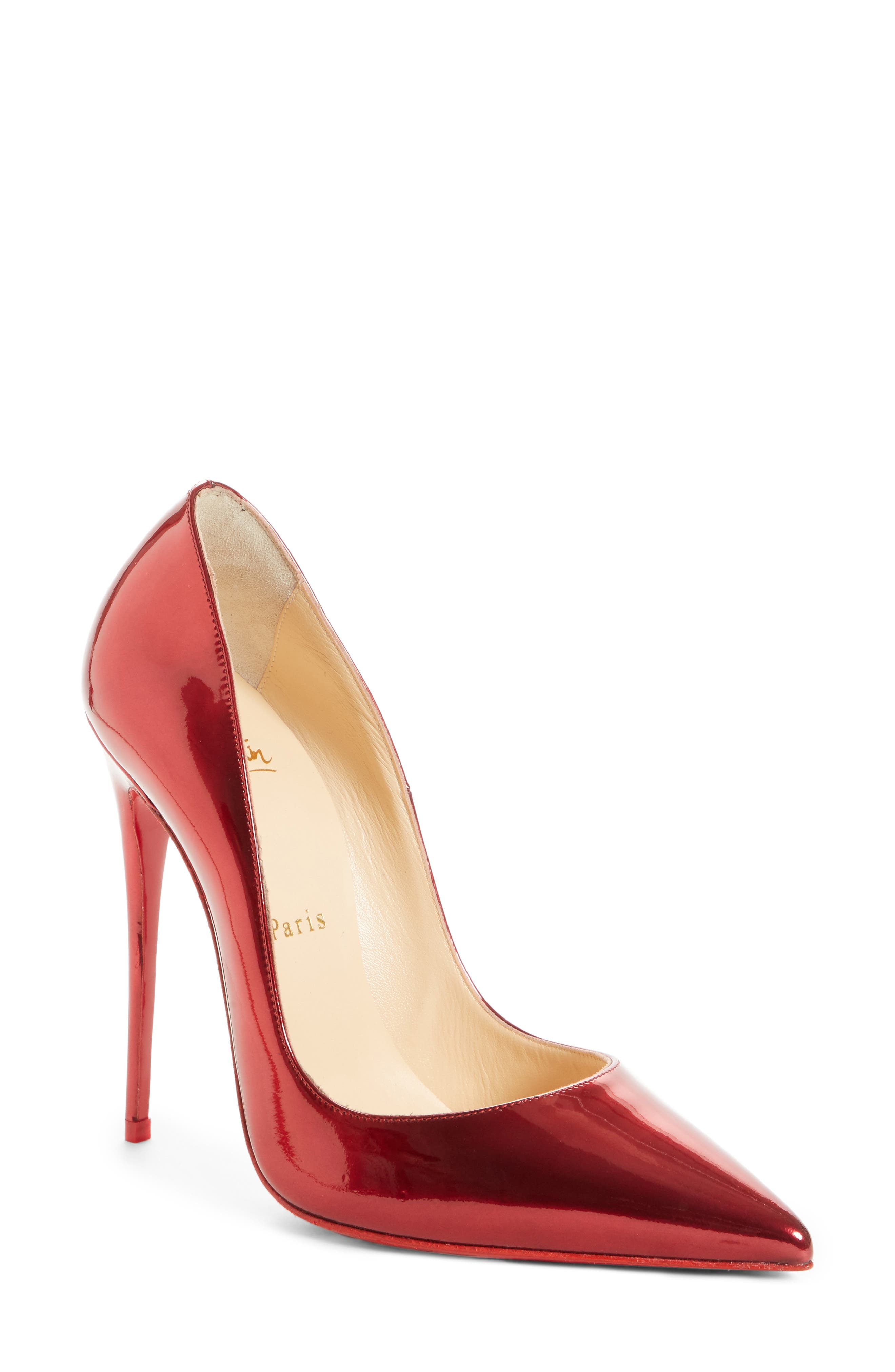 So Kate Pointy Toe Pump,                         Main,                         color, Loubi Red