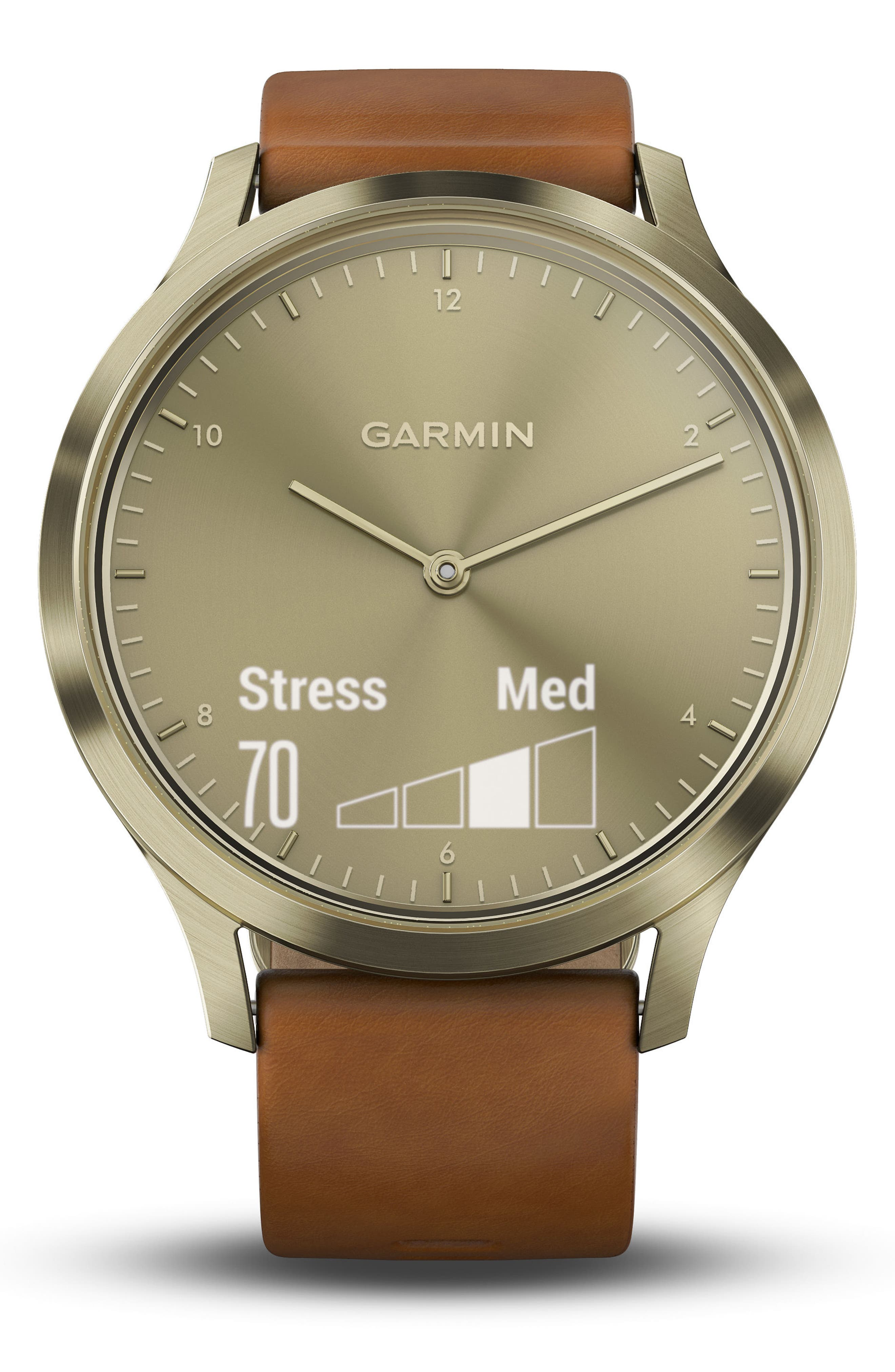 Vivomove HR Hybrid Smart Watch,                             Alternate thumbnail 5, color,                             Light Brown/ Gold/ Gold