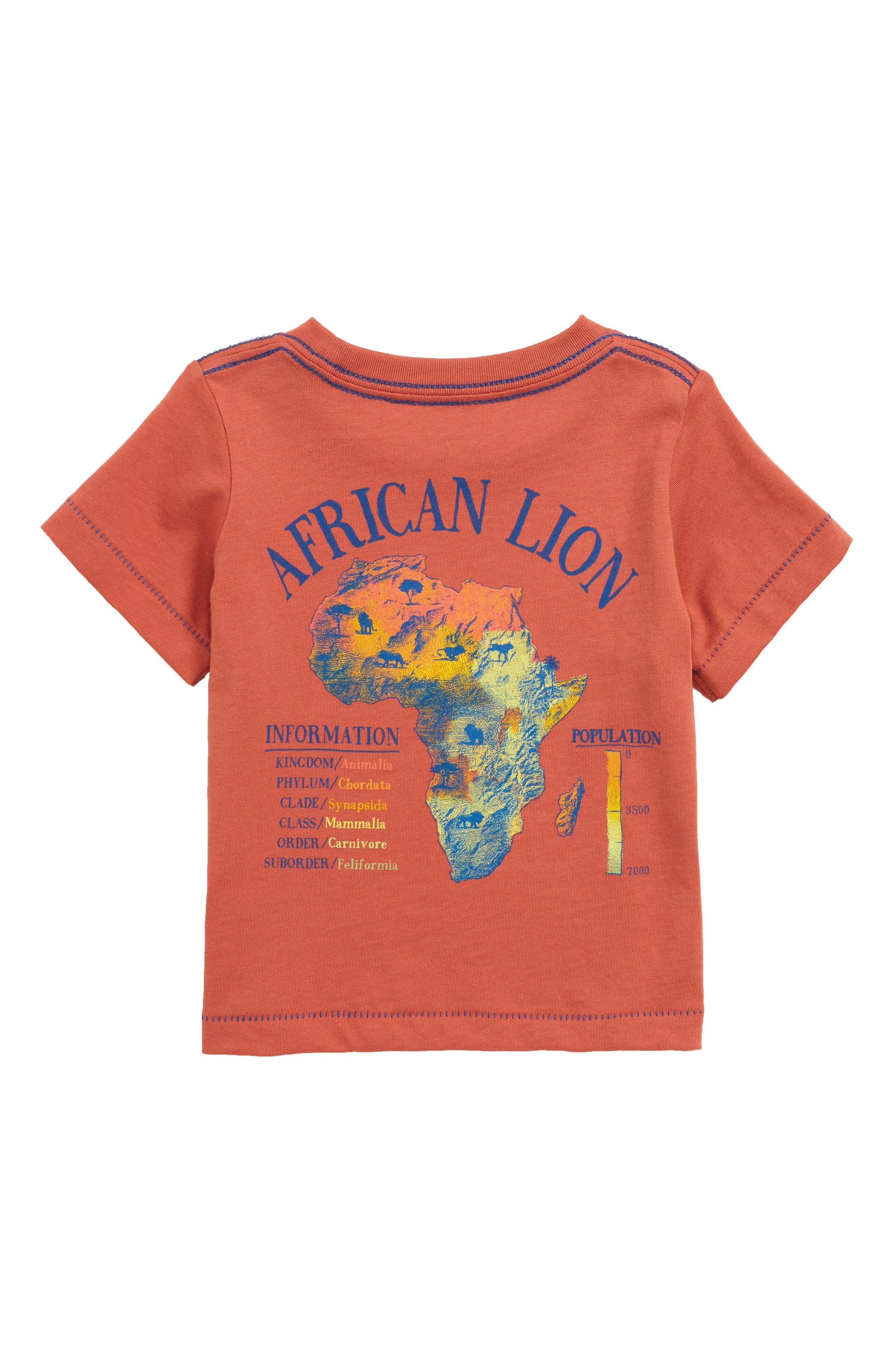 Lion Graphic T-Shirt,                             Alternate thumbnail 2, color,                             Rust