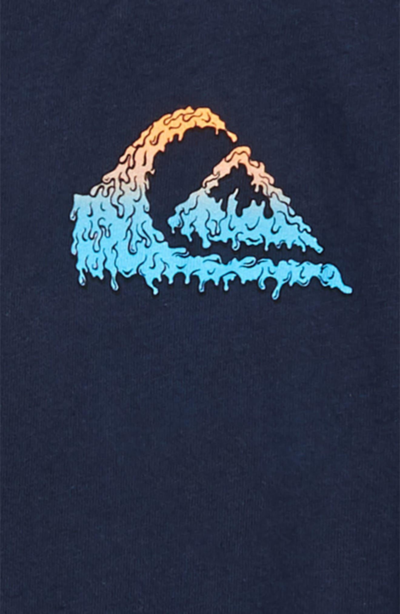 Quicksilver Gloss Varnish Short Sleeve T-Shirt,                             Alternate thumbnail 3, color,                             Navy Blazer
