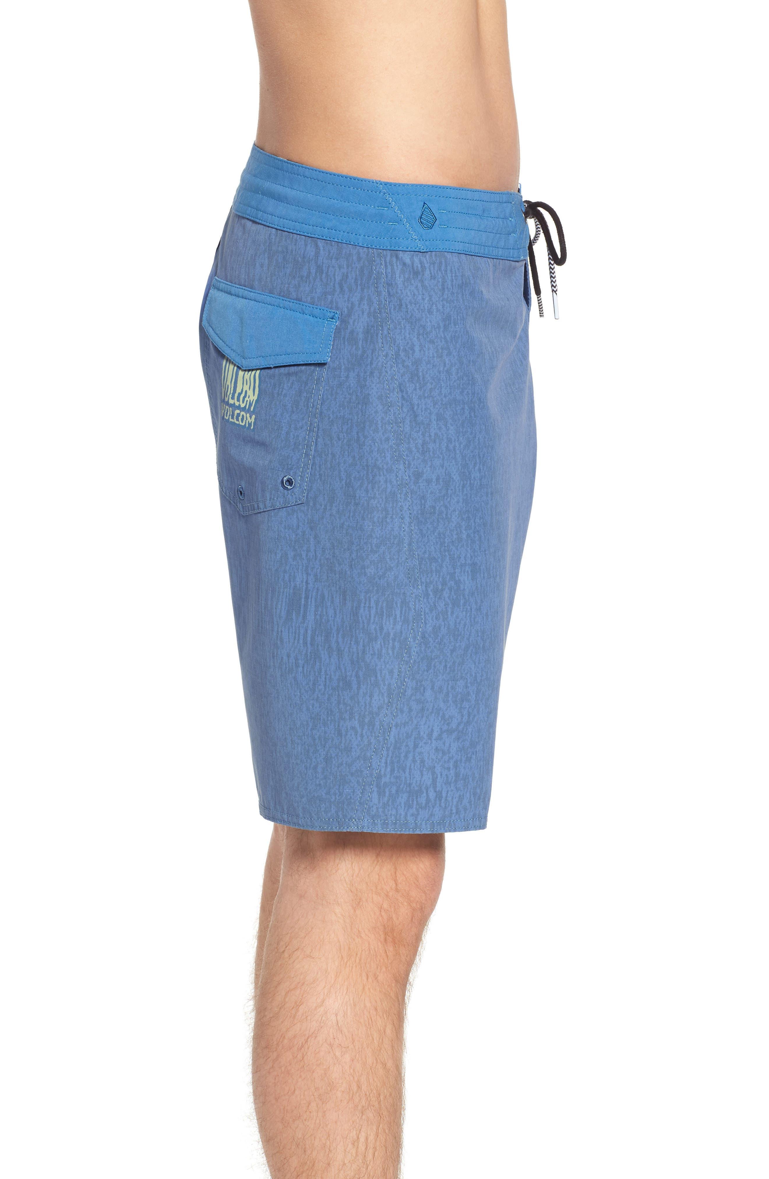 Side Fi Stoney Board Shorts,                             Alternate thumbnail 3, color,                             Blue Free