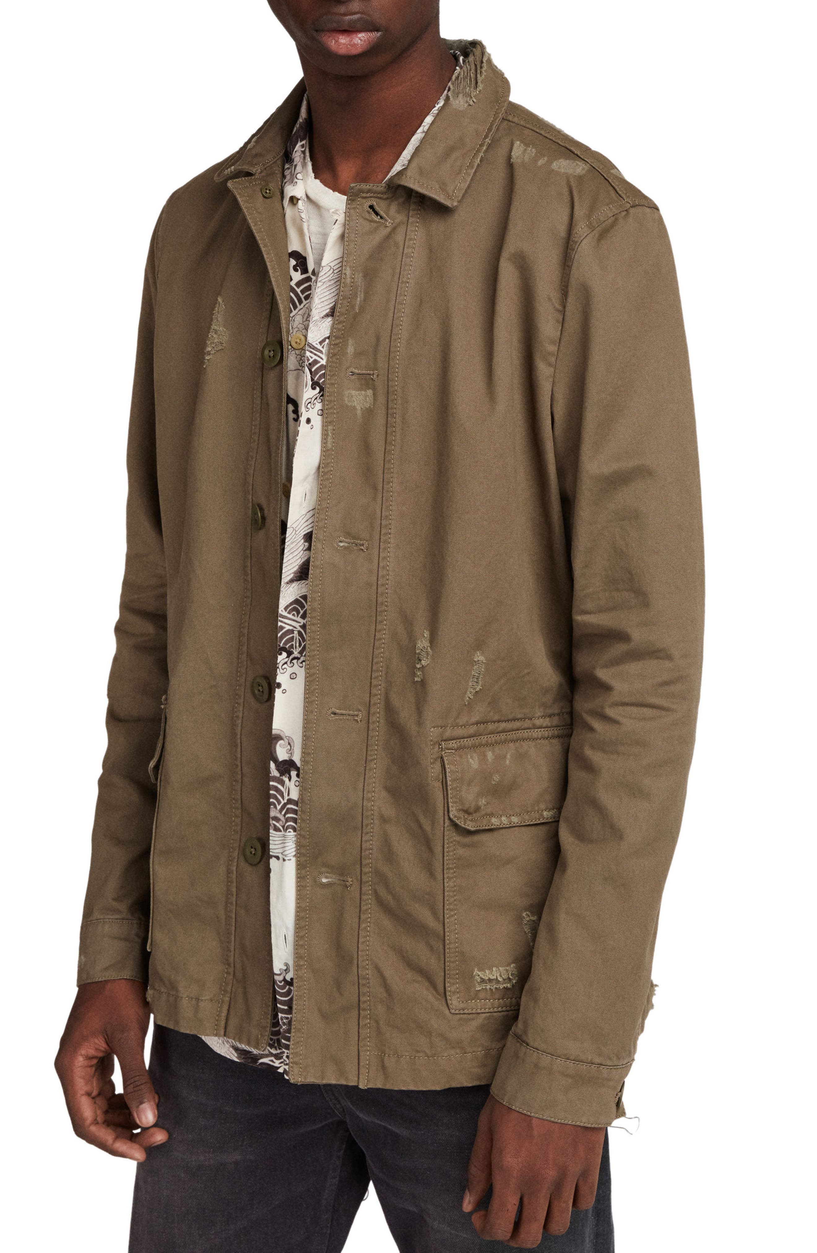Sasaki Shirt Jacket,                         Main,                         color, Khaki Green