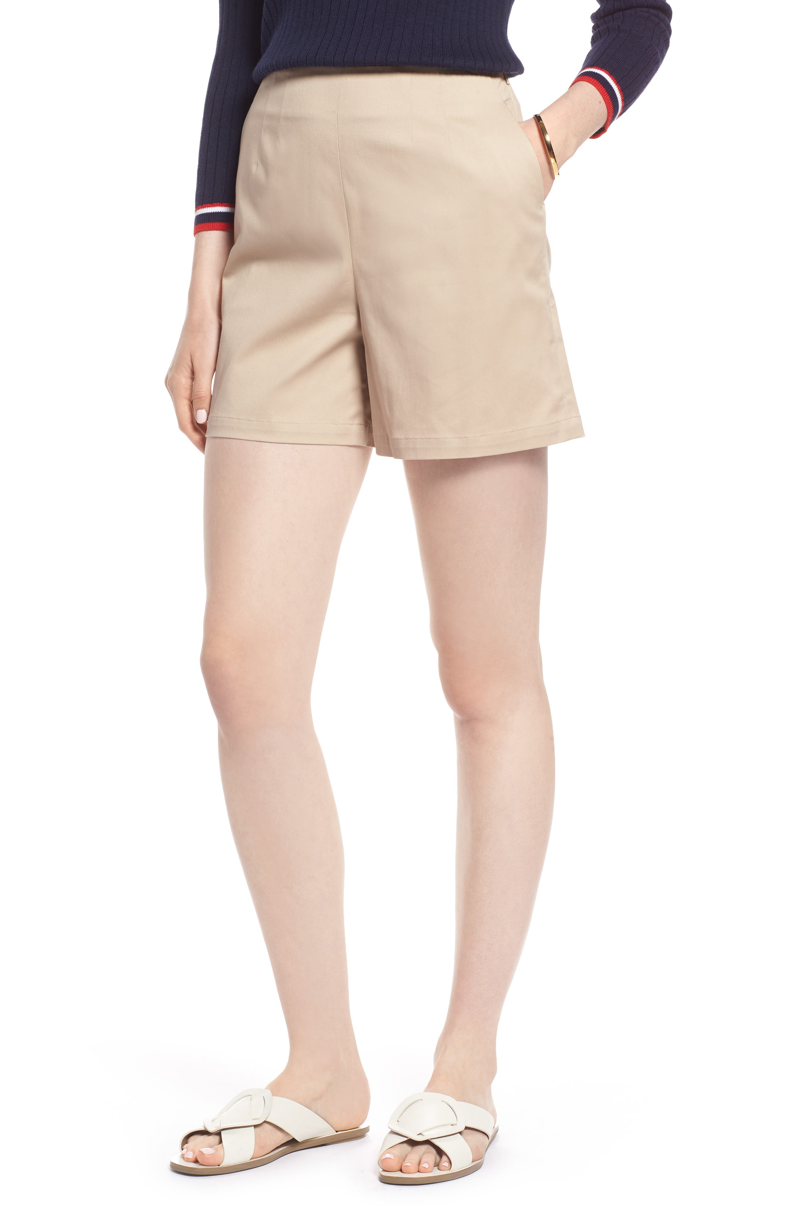 Clean Twill Shorts,                         Main,                         color, Tan