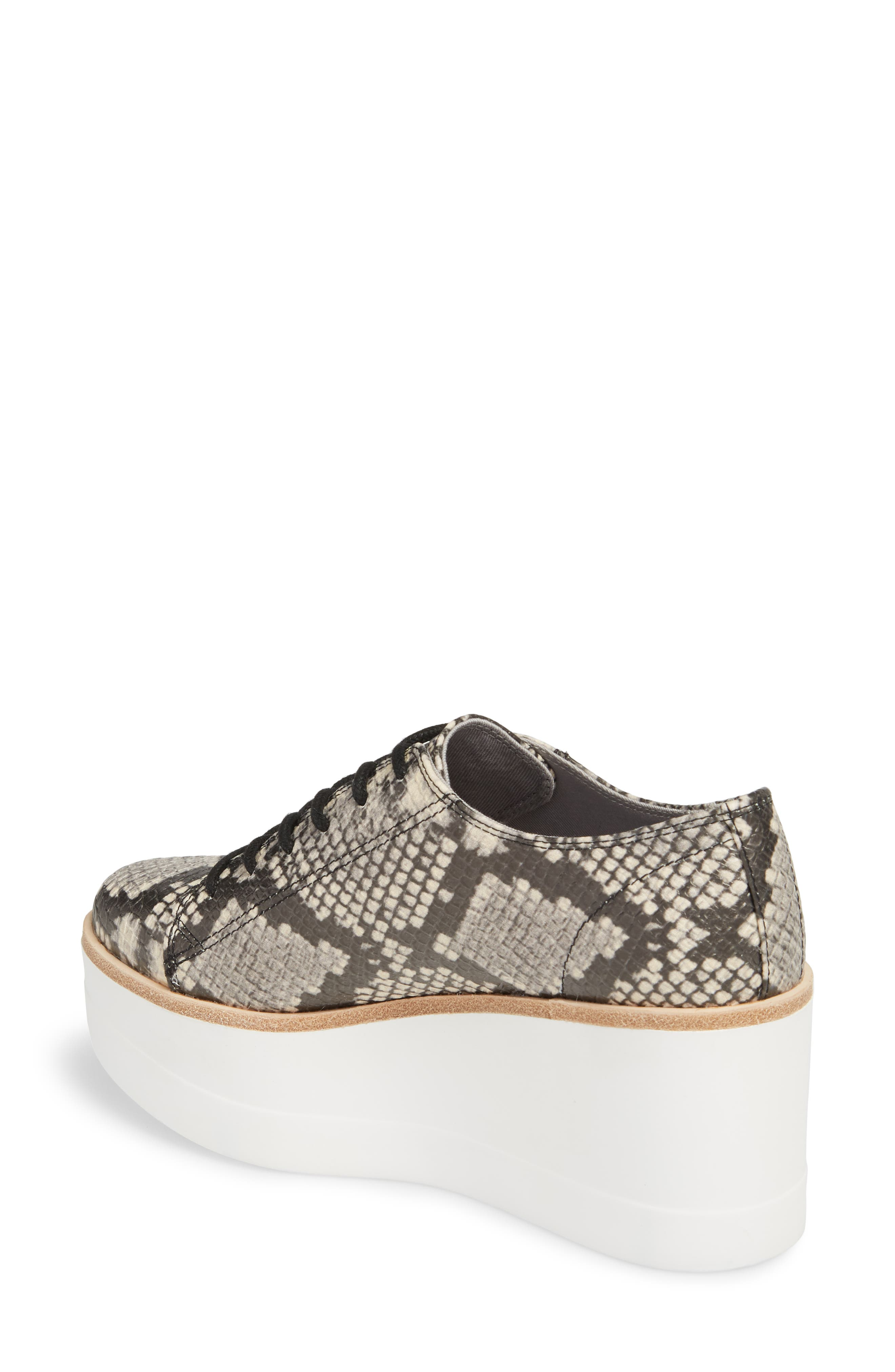 Kimber Wedge Platform Sneaker,                             Alternate thumbnail 2, color,                             Natural Snake Print
