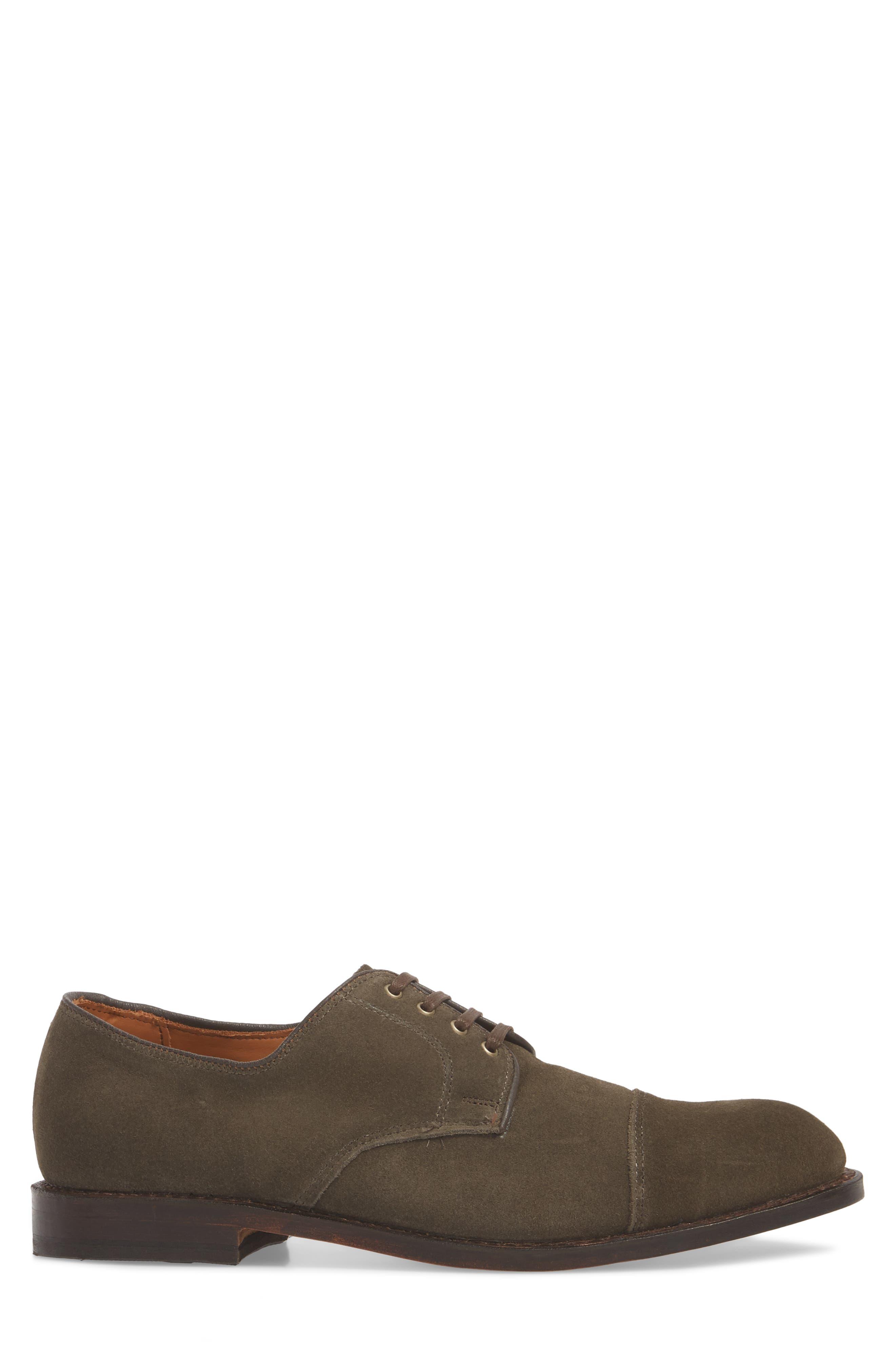 Barrett Cap Toe Derby,                             Alternate thumbnail 3, color,                             Slate Leather