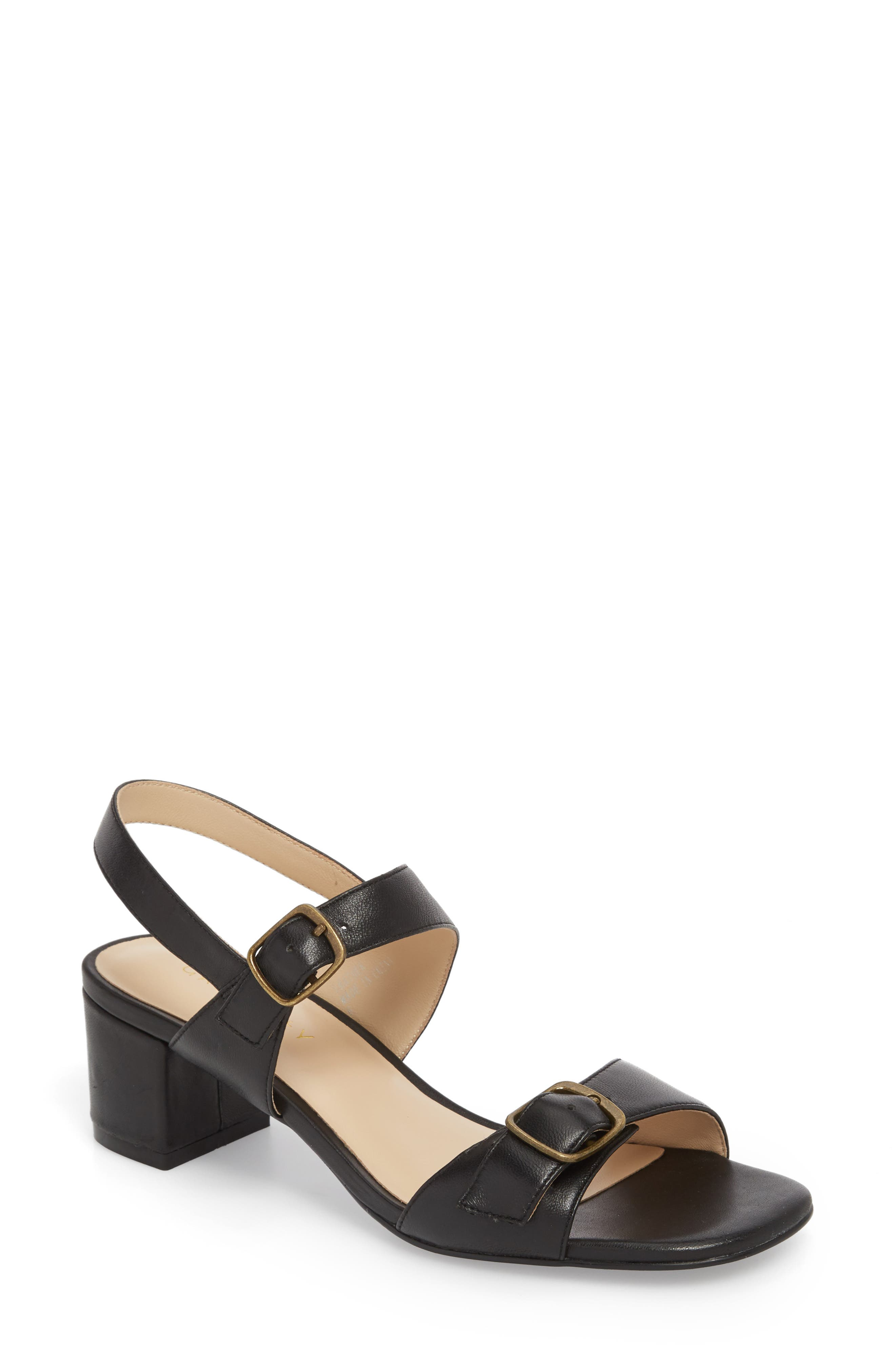 Caroline Sandal,                             Main thumbnail 1, color,                             Black