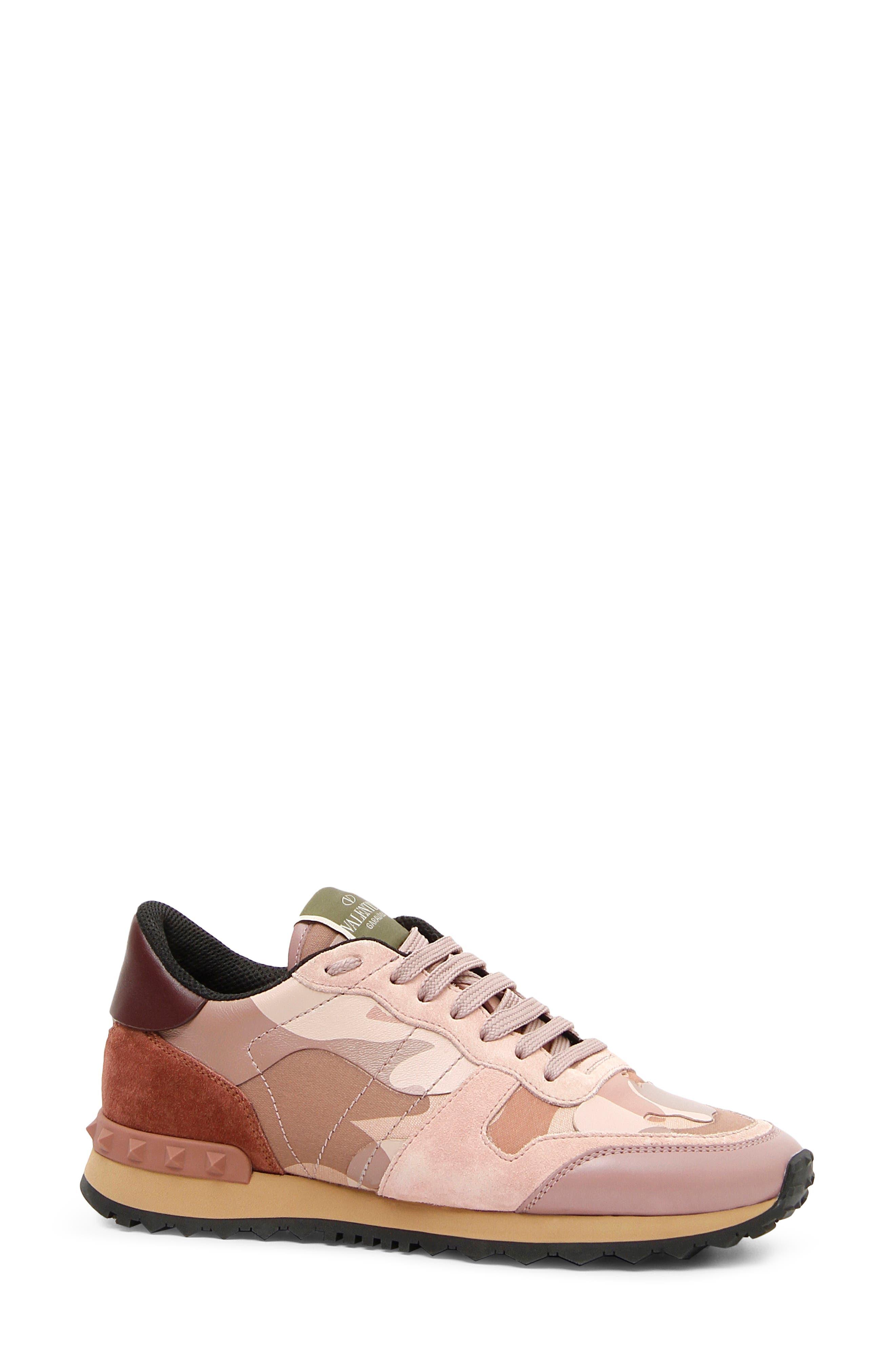 Rockstud Sneaker,                         Main,                         color, Poudre/ Rose