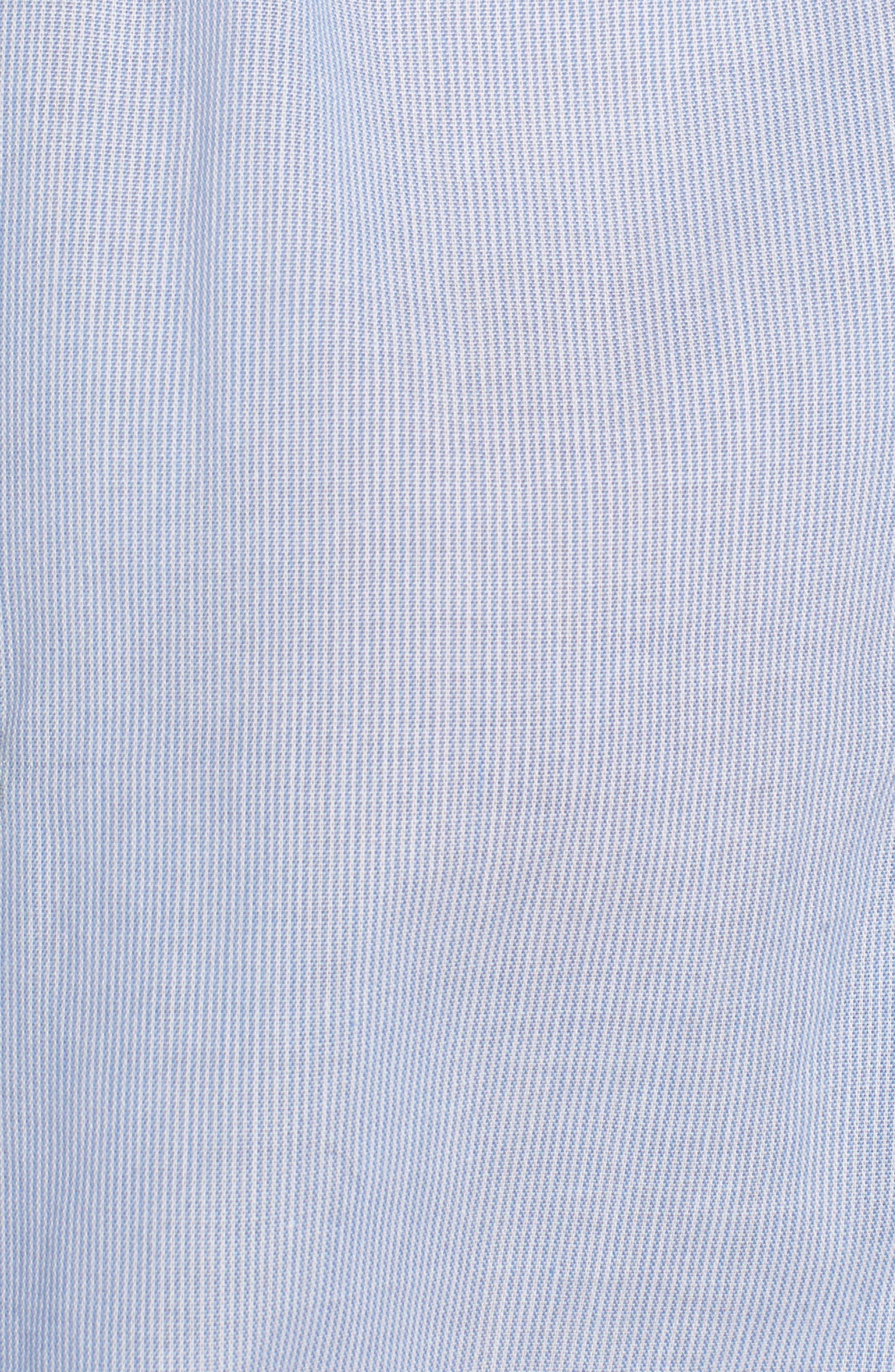 Embroidery Tie Front Cotton Top,                             Alternate thumbnail 5, color,                             Blue Mini Pear