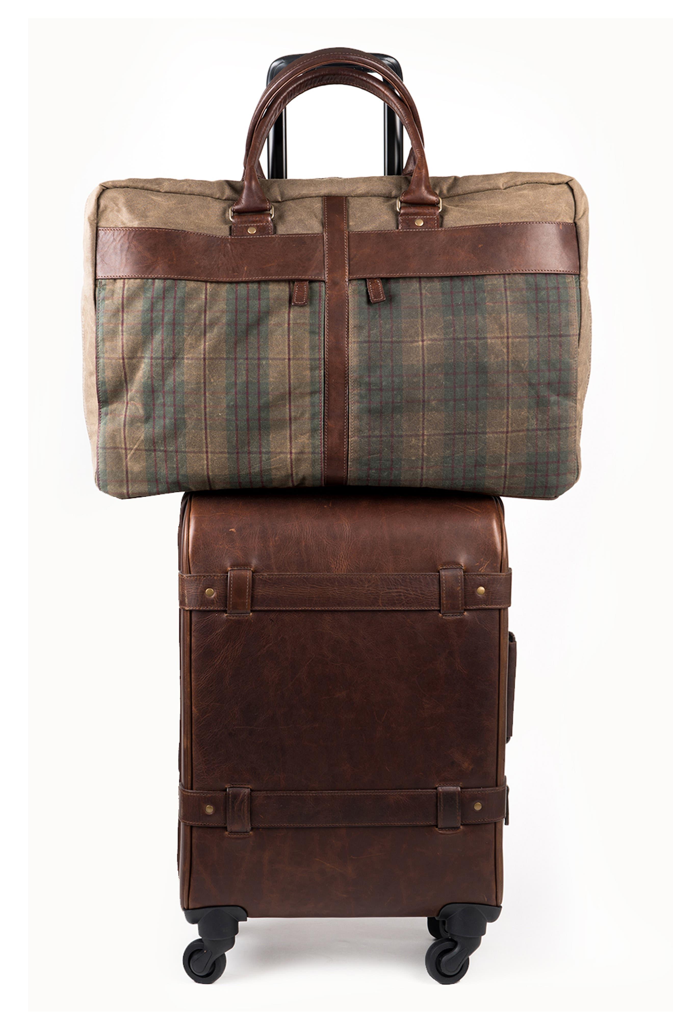 Tinsley Trifold Garment Bag,                             Alternate thumbnail 2, color,                             Baldwin Oak
