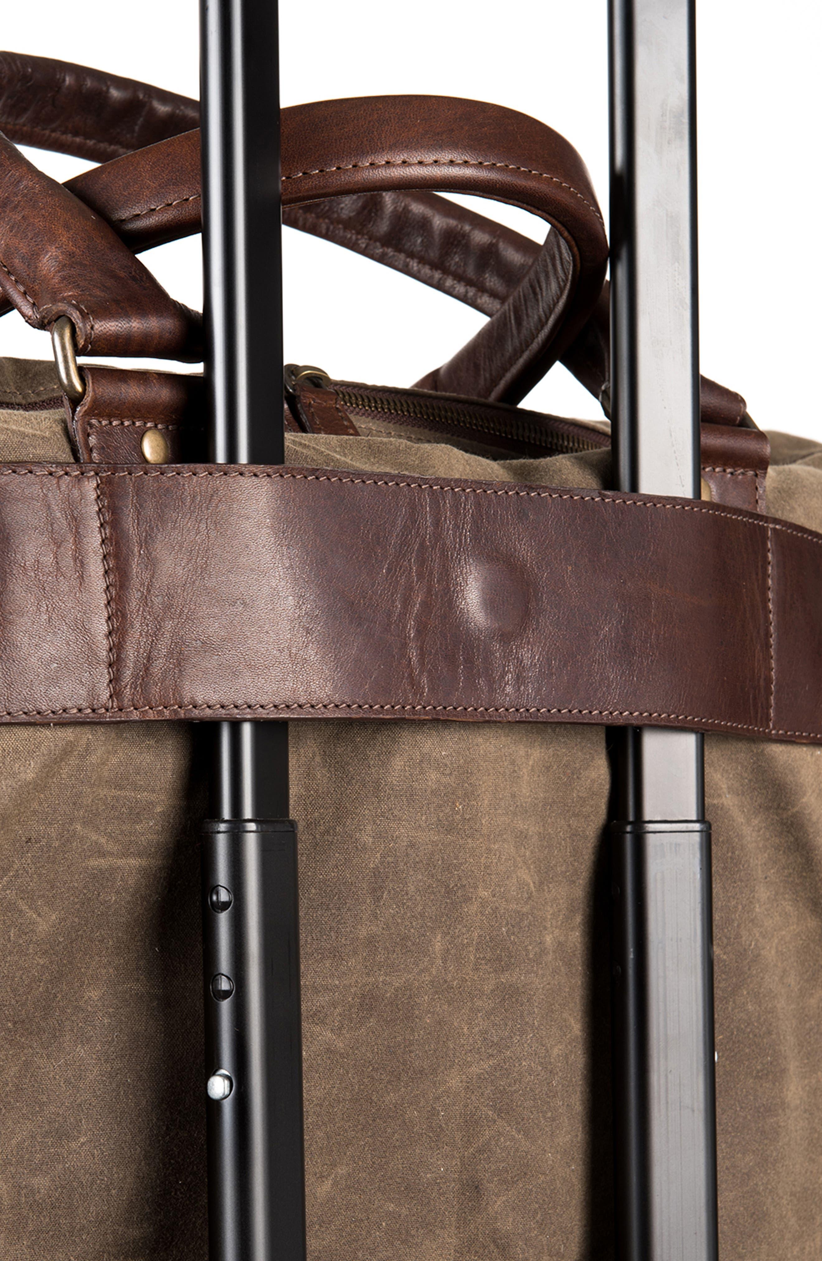 Tinsley Trifold Garment Bag,                             Alternate thumbnail 6, color,                             Baldwin Oak