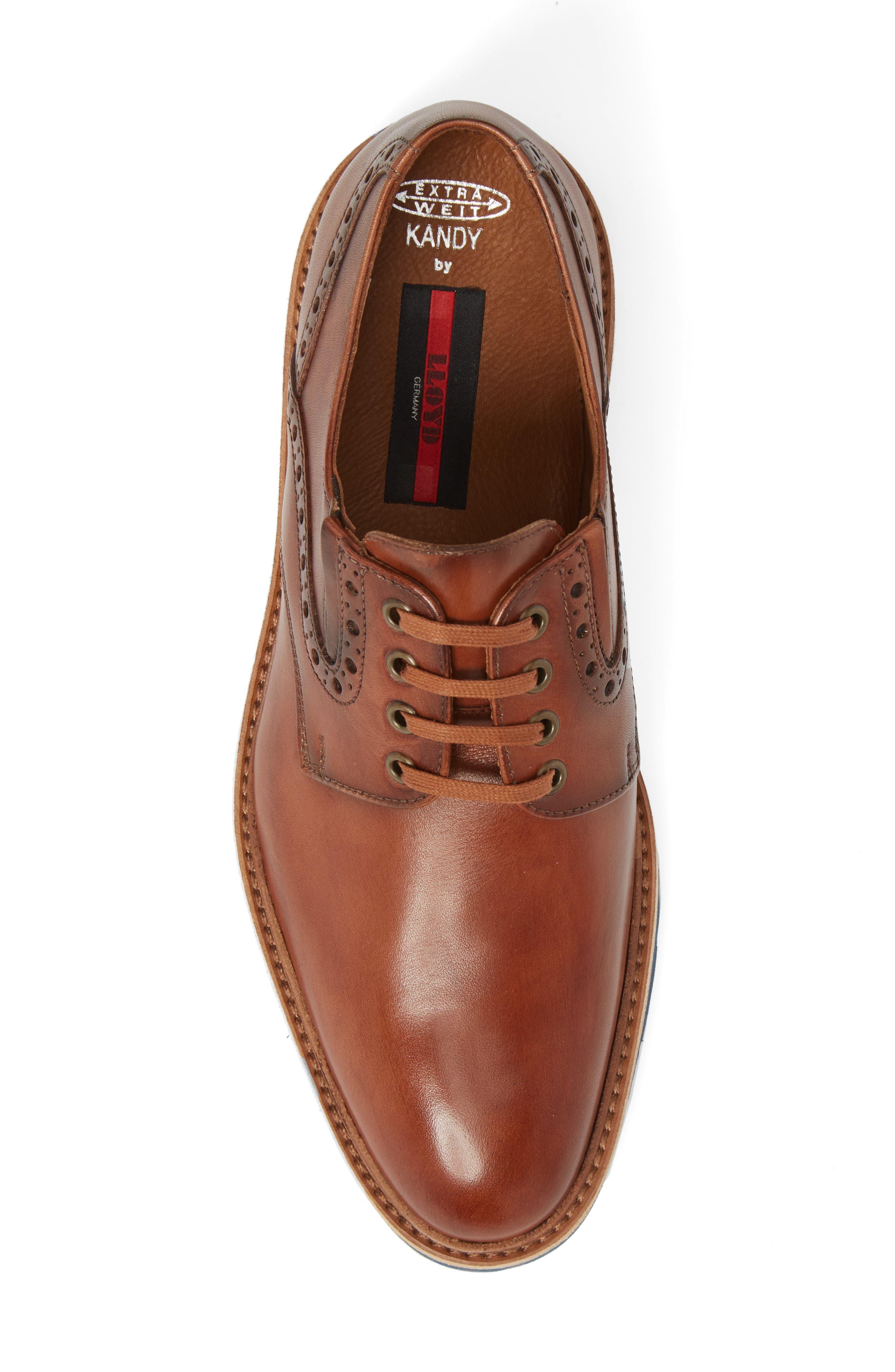 Kandy Plain Toe Derby,                             Alternate thumbnail 5, color,                             Cognac Leather