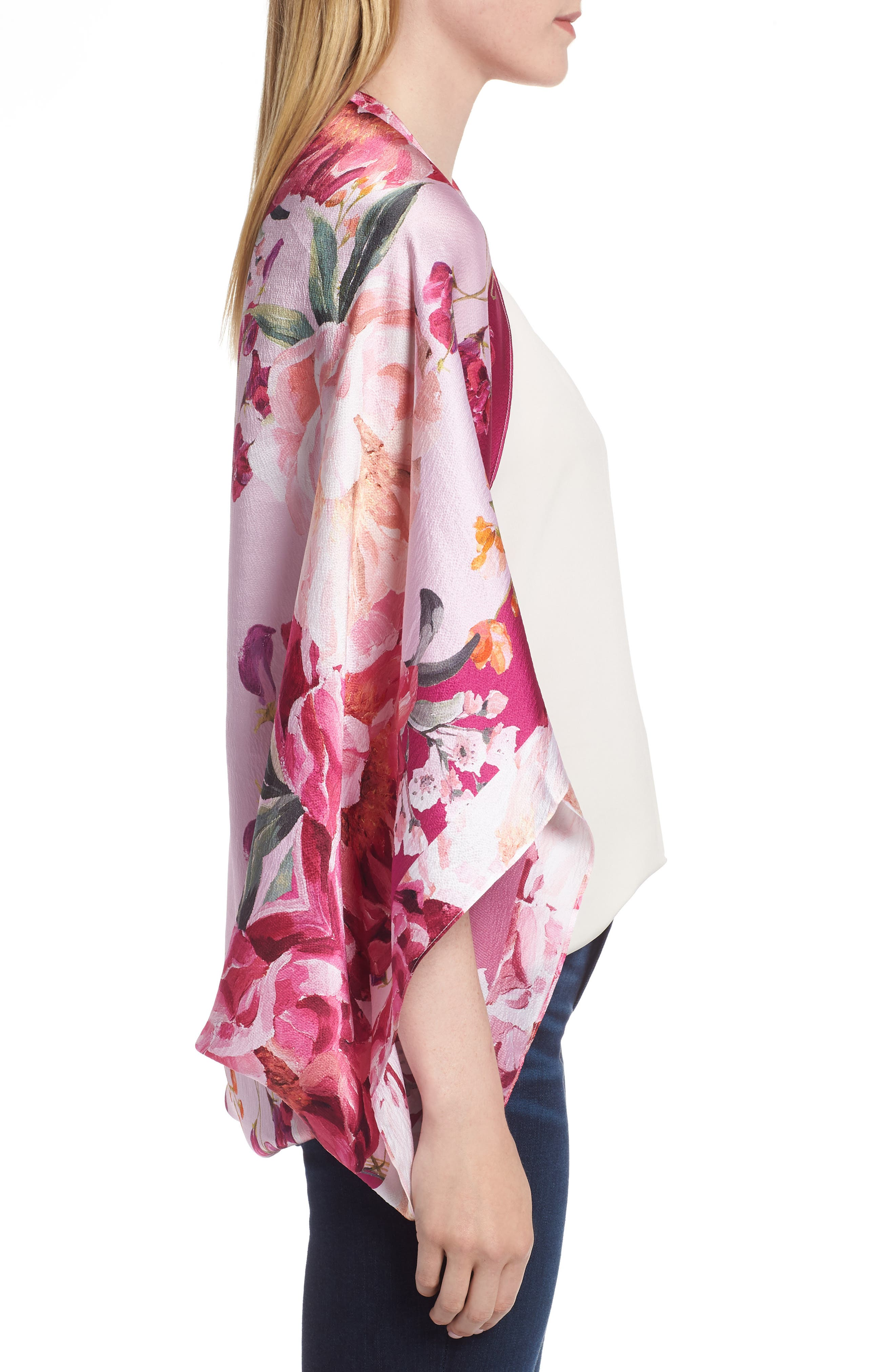 Serenity Cape Scarf,                             Alternate thumbnail 3, color,                             Dusky Pink