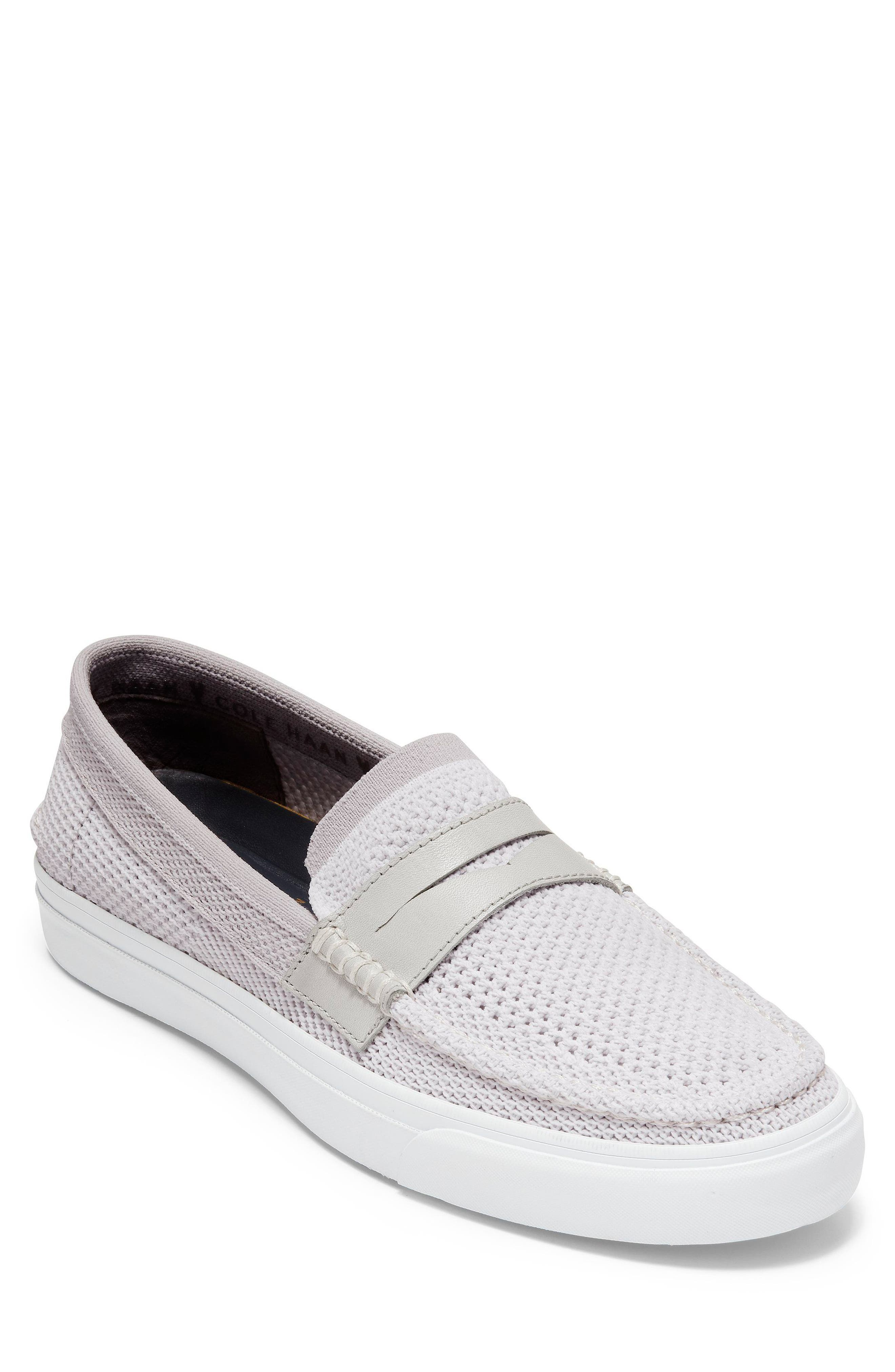 Pinch Stitch LX Stitchlite<sup>™</sup> Penny Loafer,                         Main,                         color, Vapor Grey /Optic White
