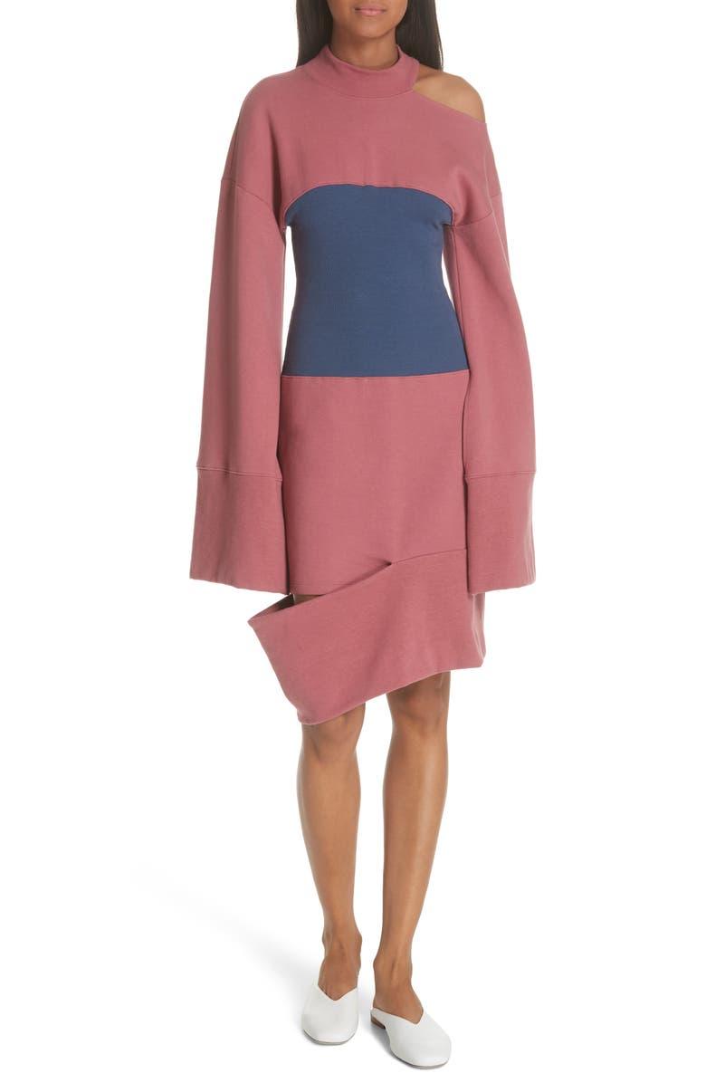 Corset Panel Sweatshirt Dress